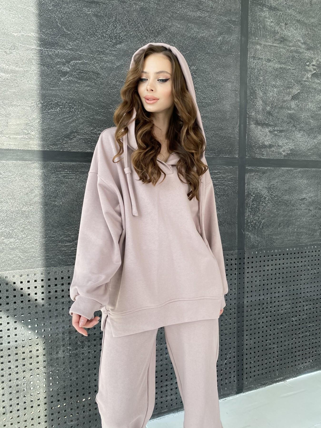 Ярис костюм из 3х нитки 10789 АРТ. 47263 Цвет: Кофе - фото 2, интернет магазин tm-modus.ru
