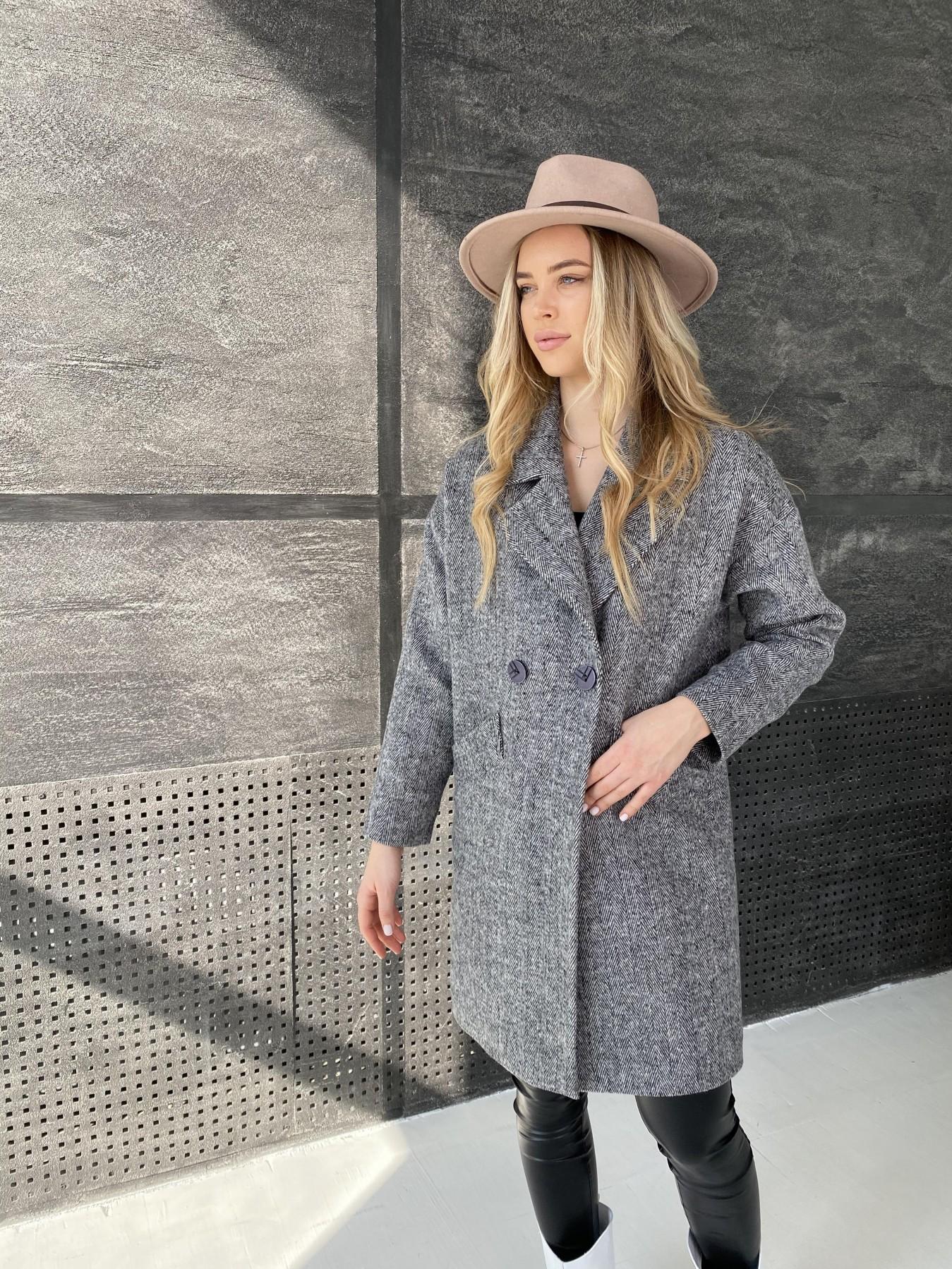 Сенсей Елка пальтовая ткань пальто 10791 АРТ. 47274 Цвет: Черно-Белый - фото 2, интернет магазин tm-modus.ru