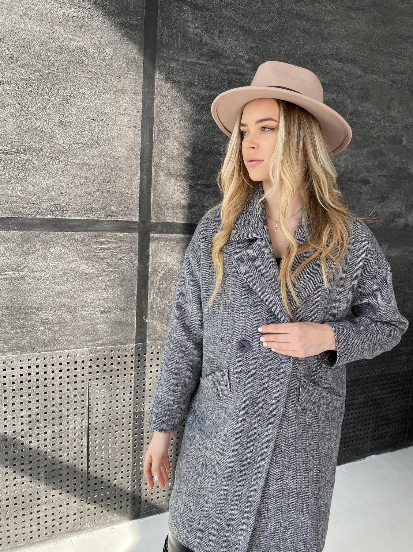 Сенсей Елка пальтовая ткань пальто 10791 АРТ. 47274 Цвет: Черно-Белый - фото 3, интернет магазин tm-modus.ru