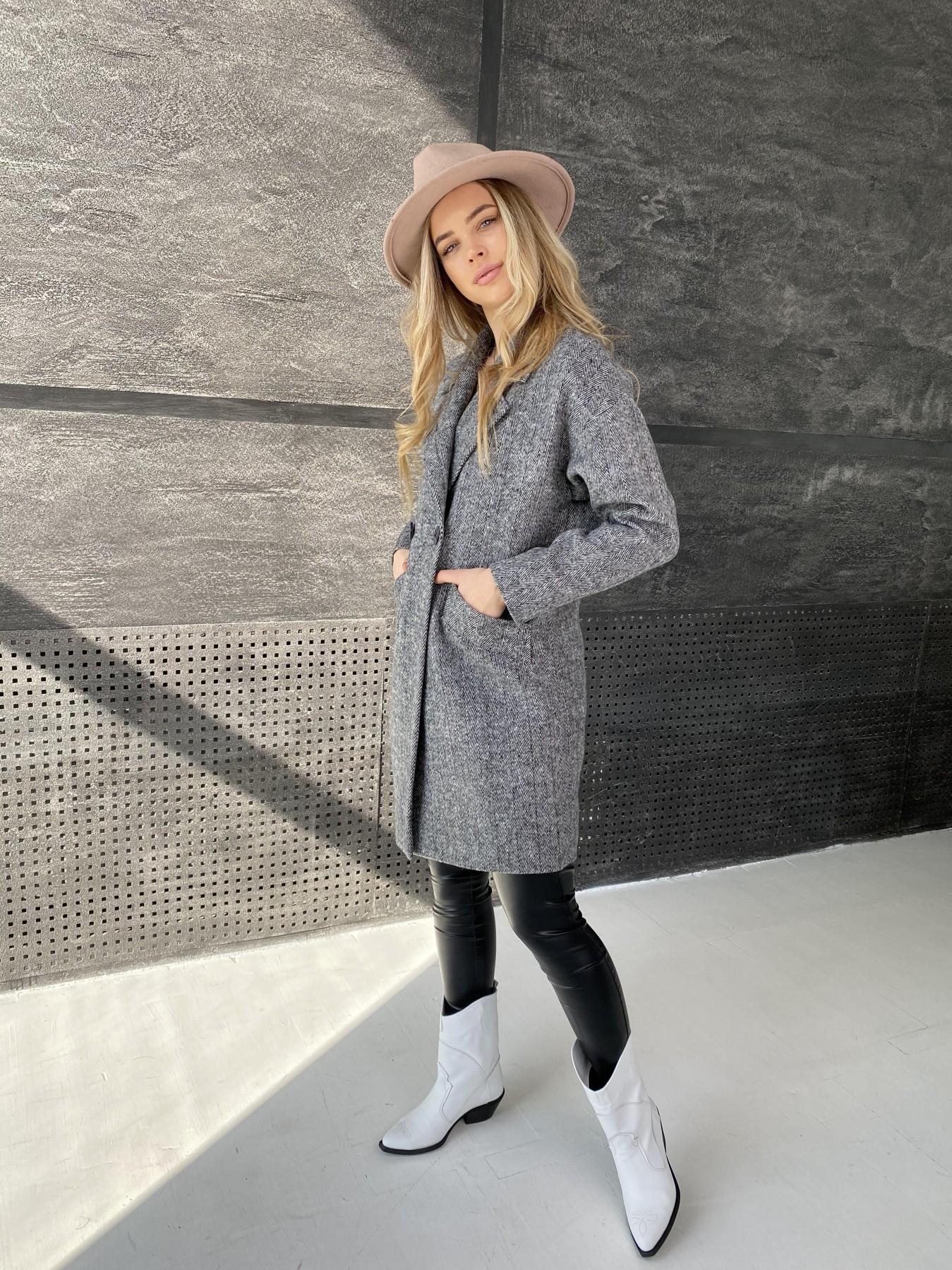 Сенсей Елка пальтовая ткань пальто 10791 АРТ. 47274 Цвет: Черно-Белый - фото 5, интернет магазин tm-modus.ru