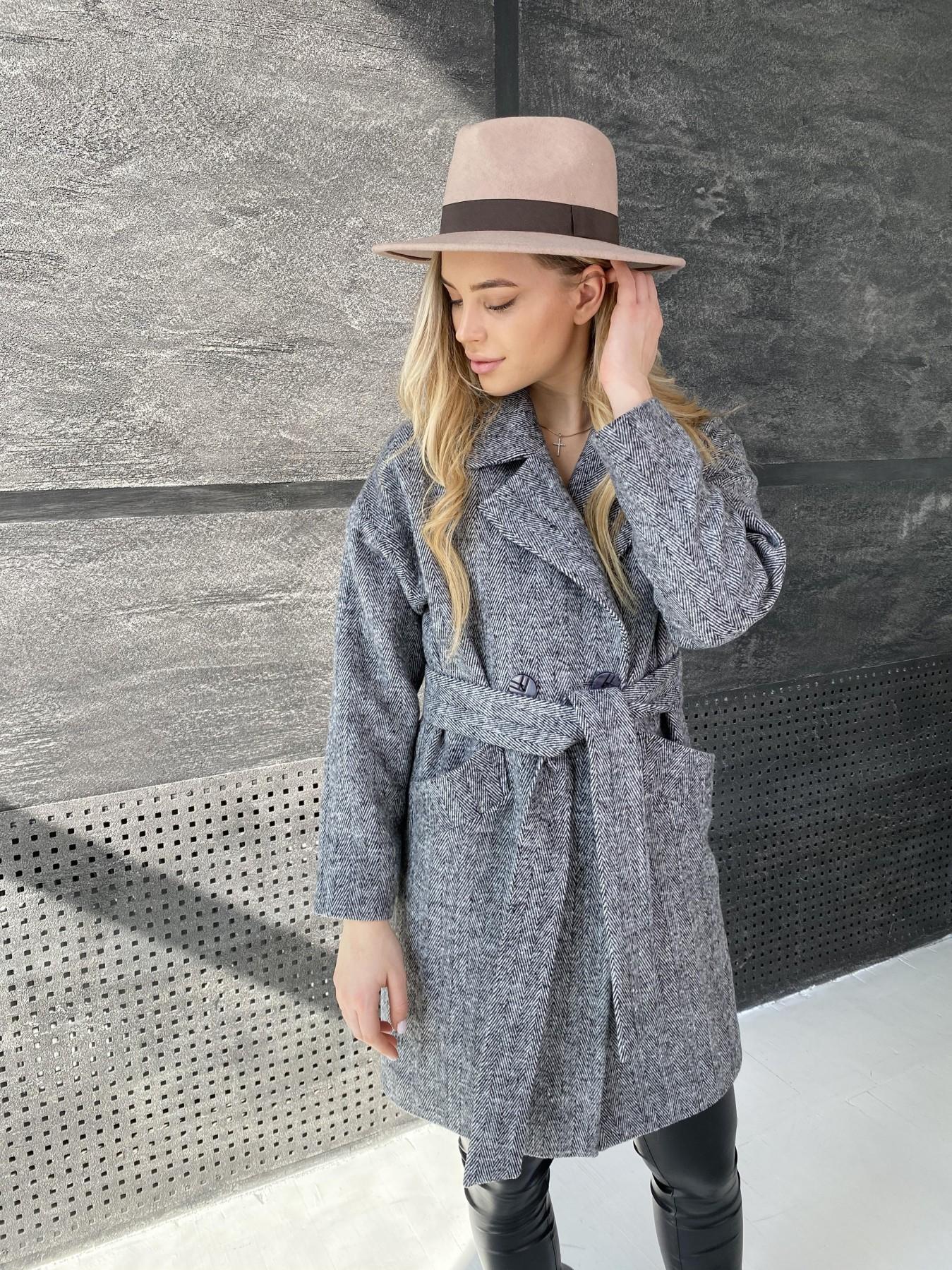 Сенсей Елка пальтовая ткань пальто 10791 АРТ. 47274 Цвет: Черно-Белый - фото 7, интернет магазин tm-modus.ru