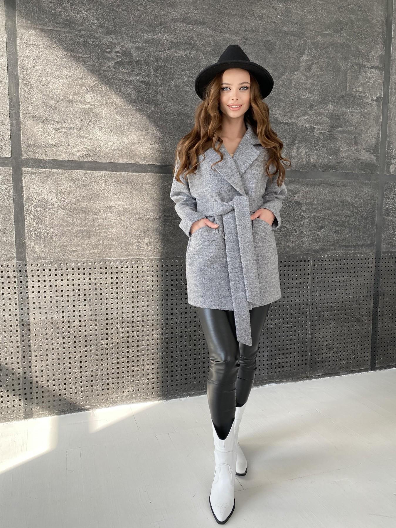 Бонд пальто из шерсти букле  10770 АРТ. 47198 Цвет: Серый 48 - фото 5, интернет магазин tm-modus.ru
