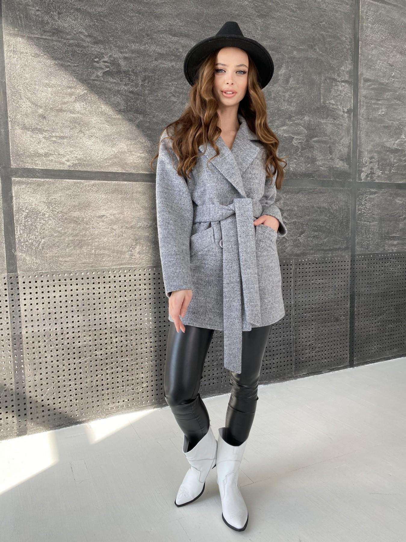 Бонд пальто из шерсти букле  10770 АРТ. 47198 Цвет: Серый 48 - фото 6, интернет магазин tm-modus.ru