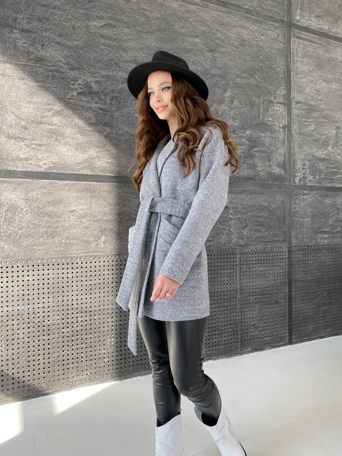 Бонд пальто из шерсти букле  10770 АРТ. 47198 Цвет: Серый 48 - фото 7, интернет магазин tm-modus.ru
