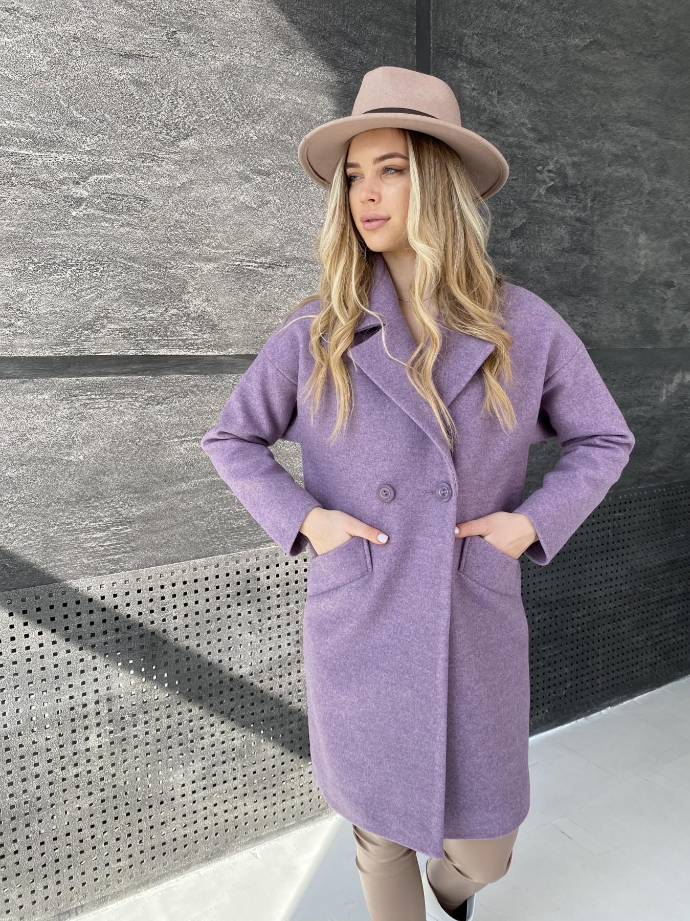 Сенсей пальто из кашемира меланж  10745 АРТ. 47232 Цвет: Сирень 42 - фото 2, интернет магазин tm-modus.ru