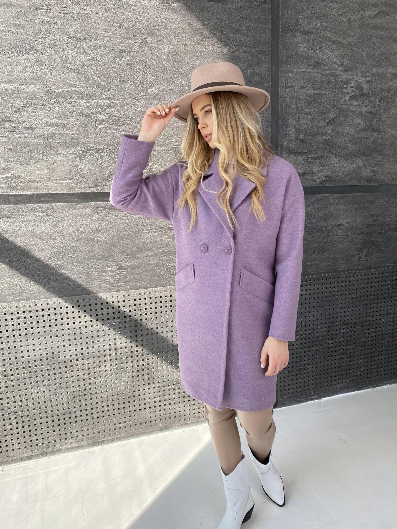 Сенсей пальто из кашемира меланж  10745 АРТ. 47232 Цвет: Сирень 42 - фото 3, интернет магазин tm-modus.ru