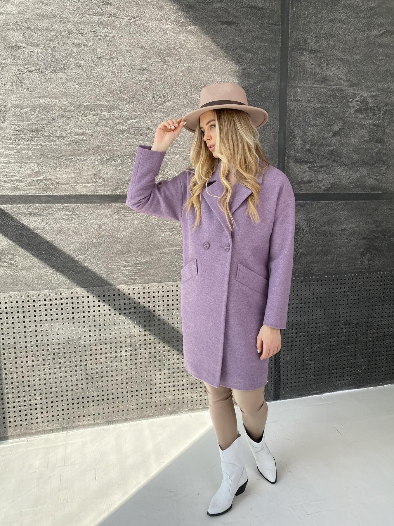 Сенсей пальто из кашемира меланж  10745 АРТ. 47232 Цвет: Сирень 42 - фото 4, интернет магазин tm-modus.ru