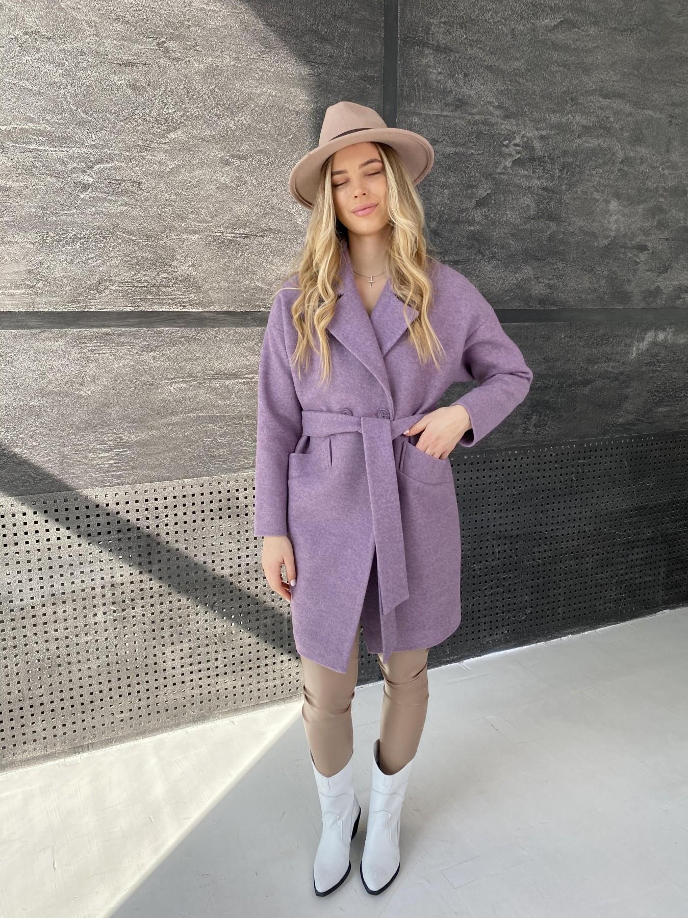 Сенсей пальто из кашемира меланж  10745 АРТ. 47232 Цвет: Сирень 42 - фото 7, интернет магазин tm-modus.ru