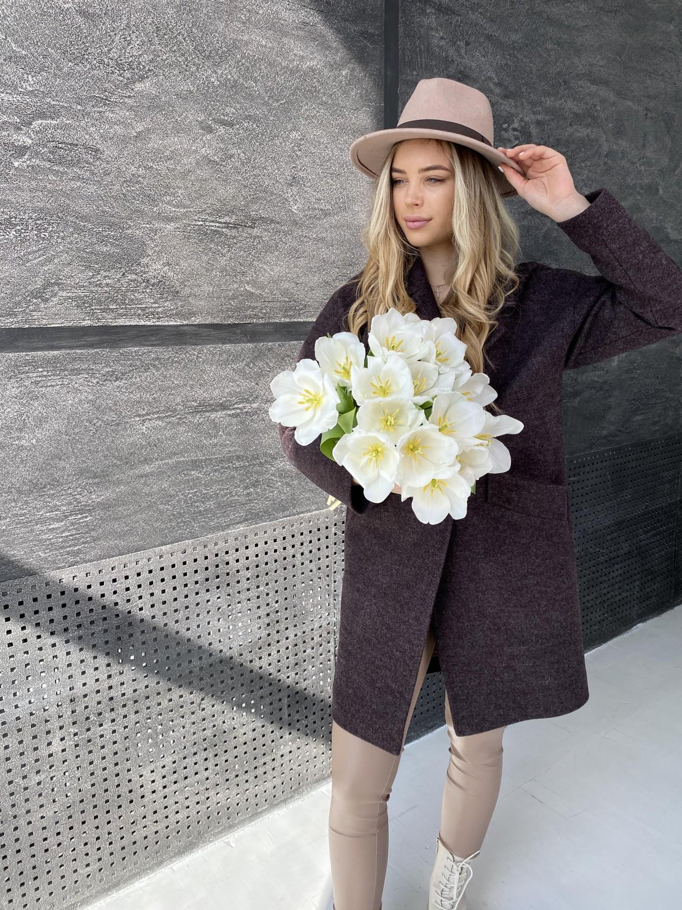 Сенсей пальто из кашемира меланж  10745 АРТ. 47227 Цвет: Марсала - фото 1, интернет магазин tm-modus.ru