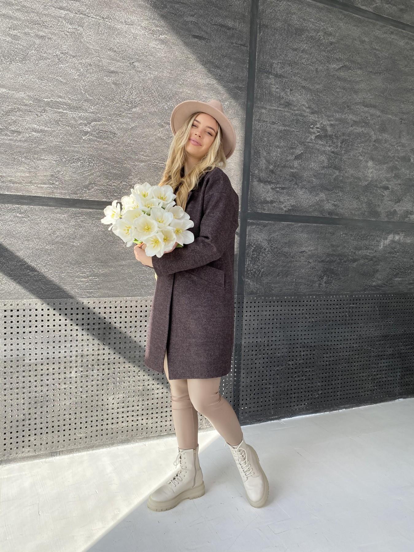Сенсей пальто из кашемира меланж  10745 АРТ. 47227 Цвет: Марсала - фото 3, интернет магазин tm-modus.ru