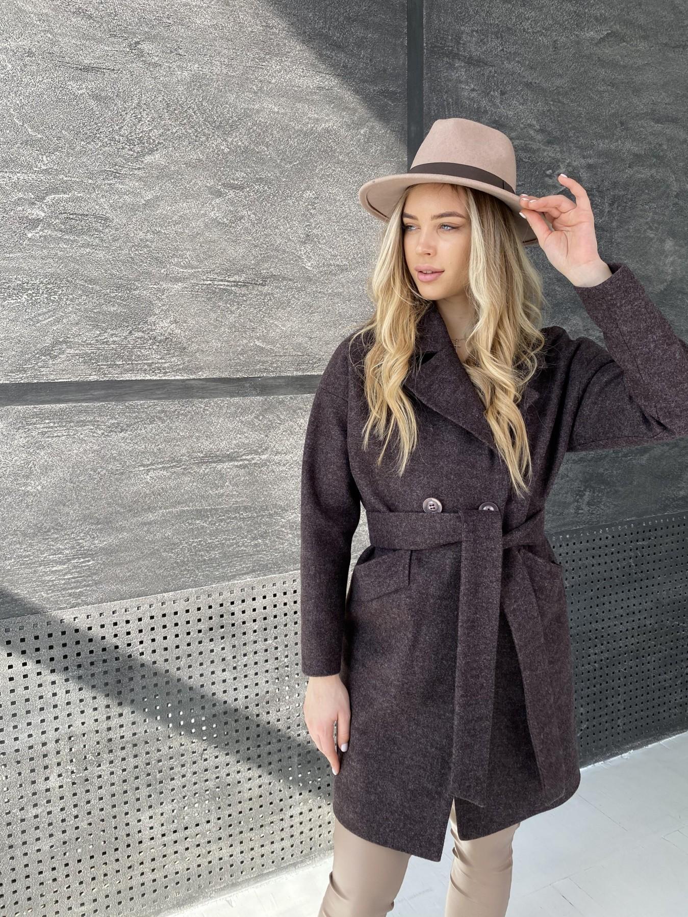 Сенсей пальто из кашемира меланж  10745 АРТ. 47227 Цвет: Марсала - фото 5, интернет магазин tm-modus.ru