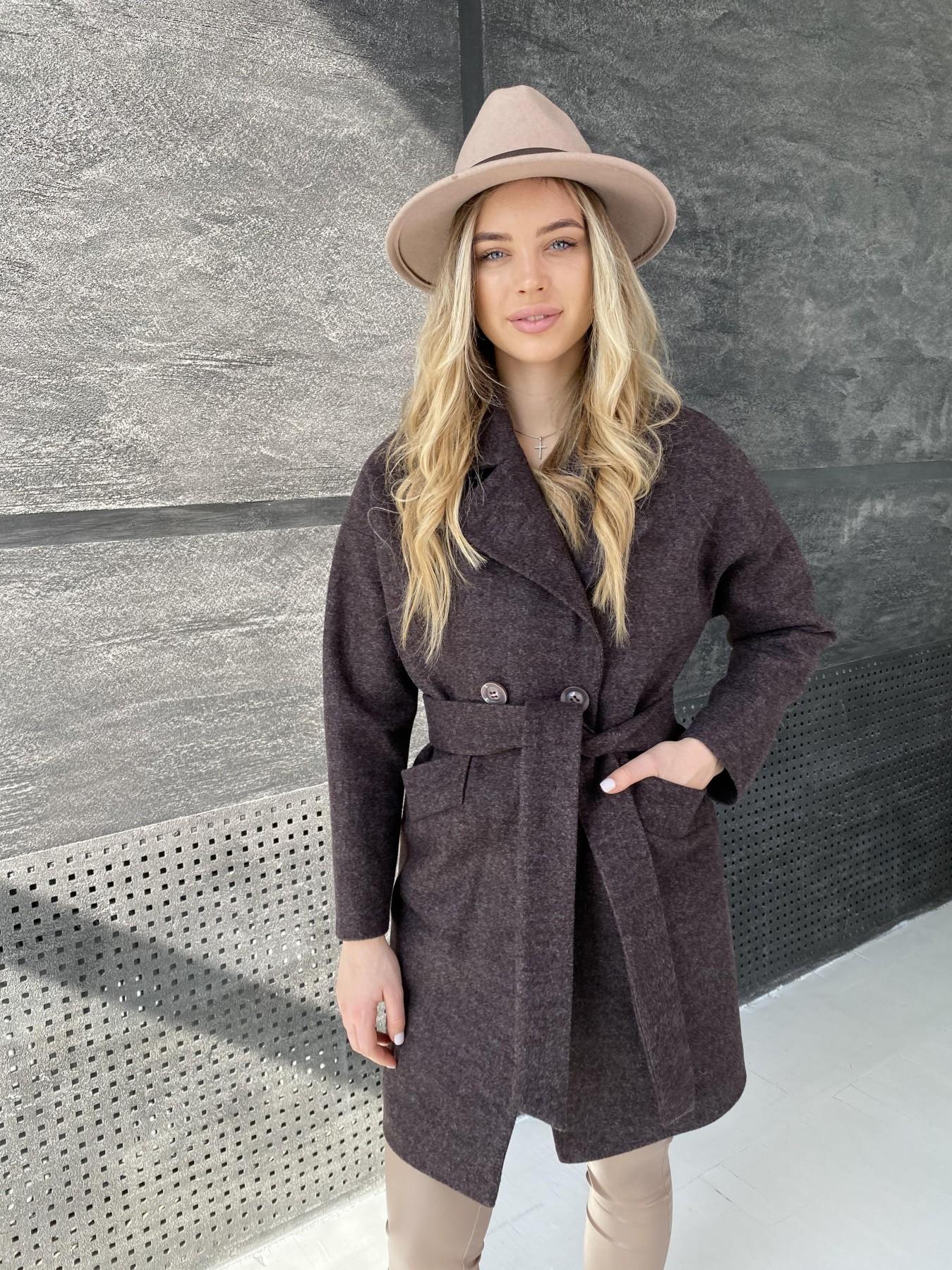 Сенсей пальто из кашемира меланж  10745 АРТ. 47227 Цвет: Марсала - фото 7, интернет магазин tm-modus.ru