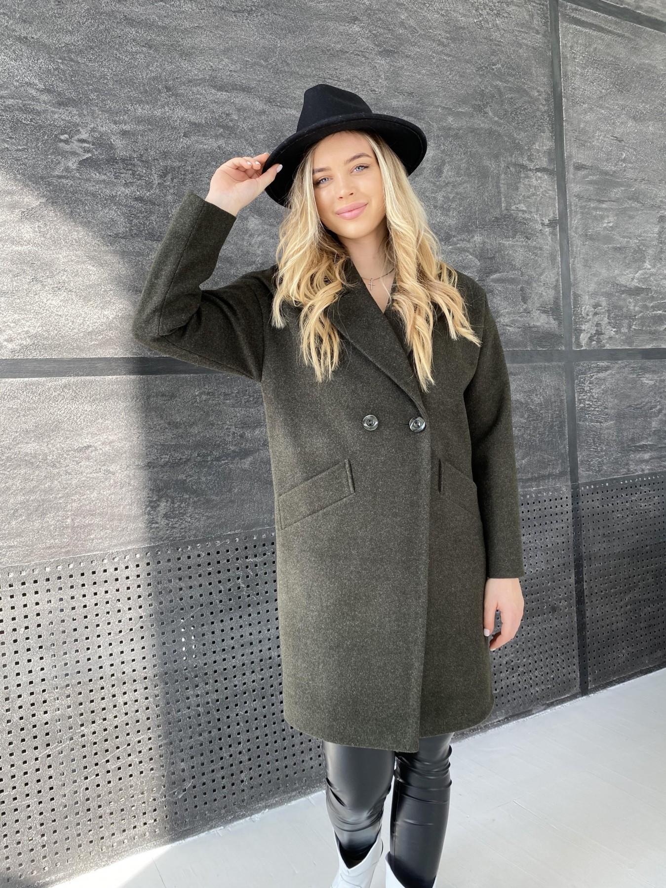 Демисезонное пальто купить Сенсей пальто из кашемира меланж  10745