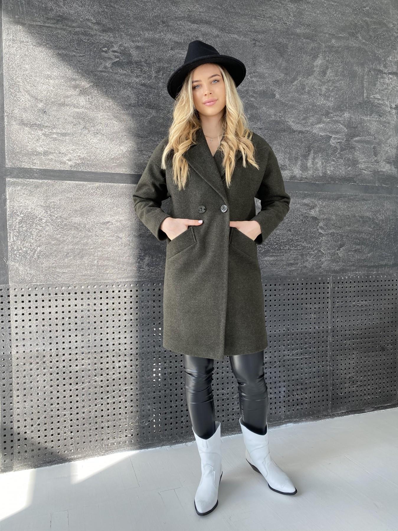 Сенсей пальто из кашемира меланж  10745 АРТ. 47231 Цвет: Хаки - фото 2, интернет магазин tm-modus.ru