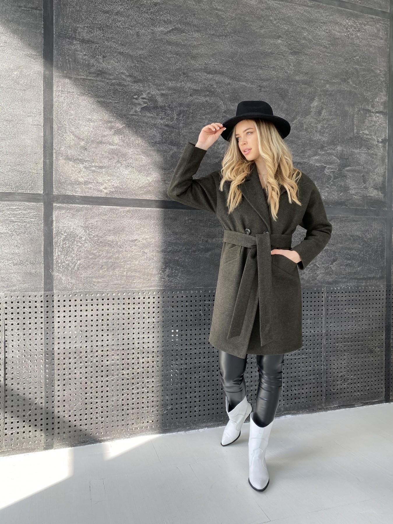 Сенсей пальто из кашемира меланж  10745 АРТ. 47231 Цвет: Хаки - фото 4, интернет магазин tm-modus.ru