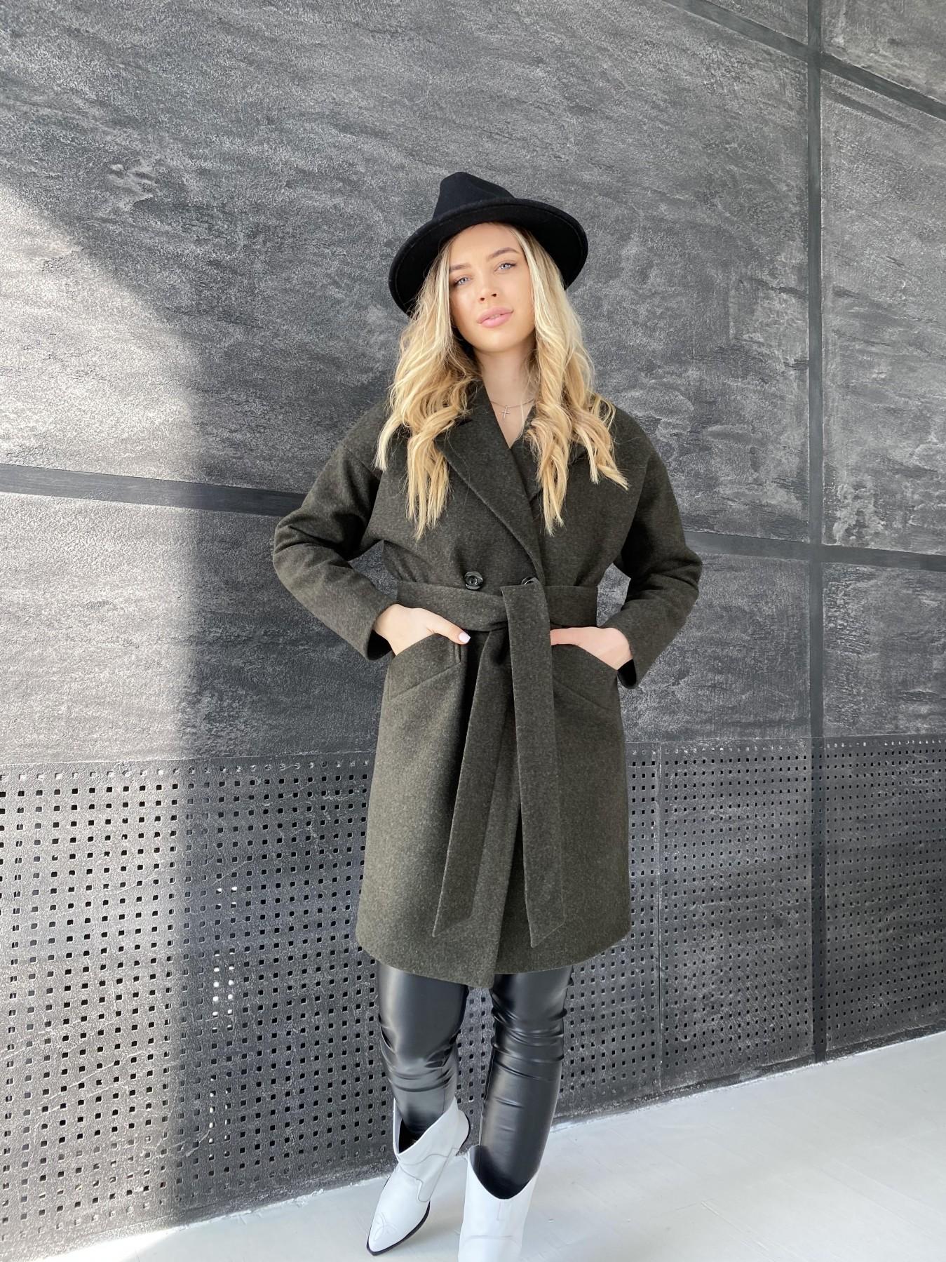Сенсей пальто из кашемира меланж  10745 АРТ. 47231 Цвет: Хаки - фото 5, интернет магазин tm-modus.ru