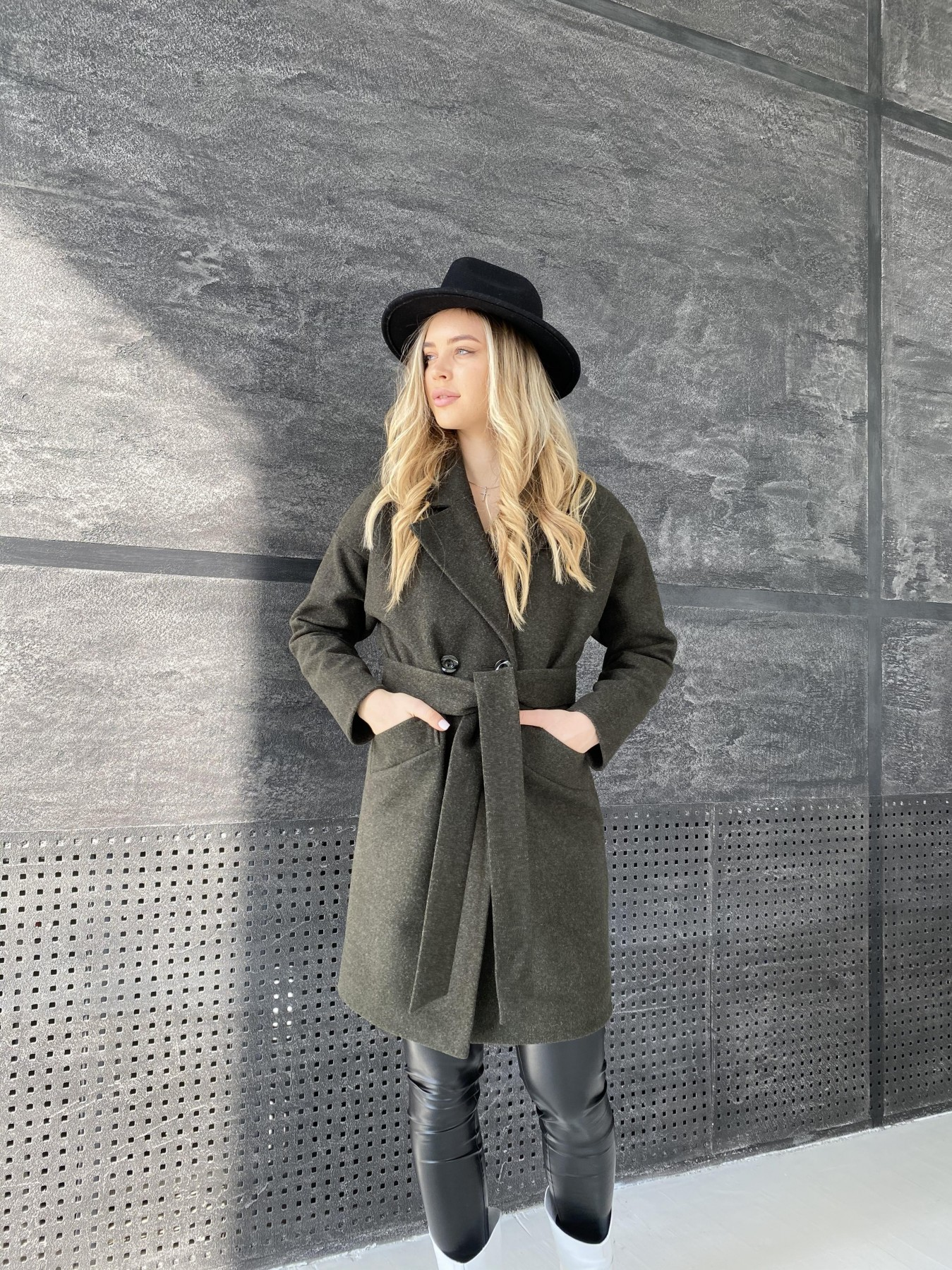 Сенсей пальто из кашемира меланж  10745 АРТ. 47231 Цвет: Хаки - фото 6, интернет магазин tm-modus.ru