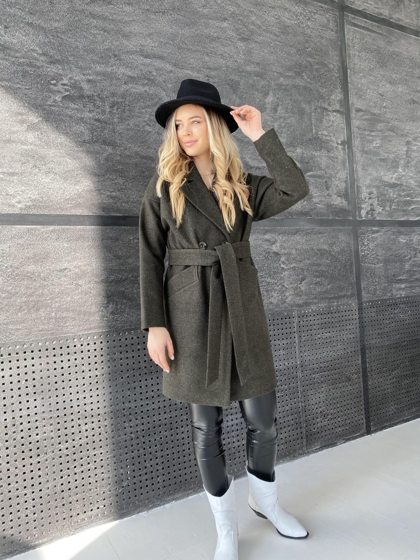 Сенсей пальто из кашемира меланж  10745 АРТ. 47231 Цвет: Хаки - фото 7, интернет магазин tm-modus.ru