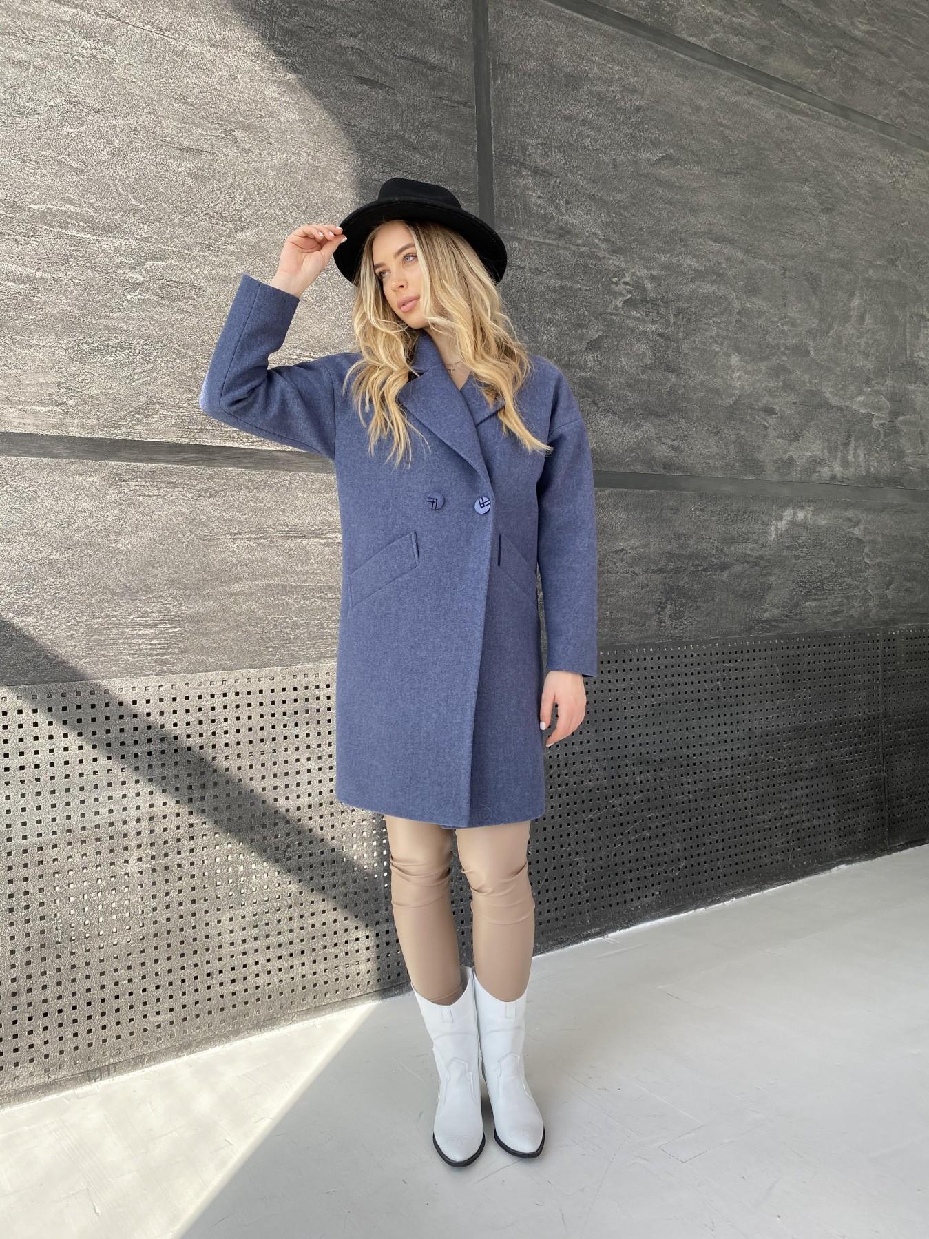 Сенсей пальто из кашемира меланж  10745 АРТ. 47228 Цвет: Джинс 57 - фото 2, интернет магазин tm-modus.ru
