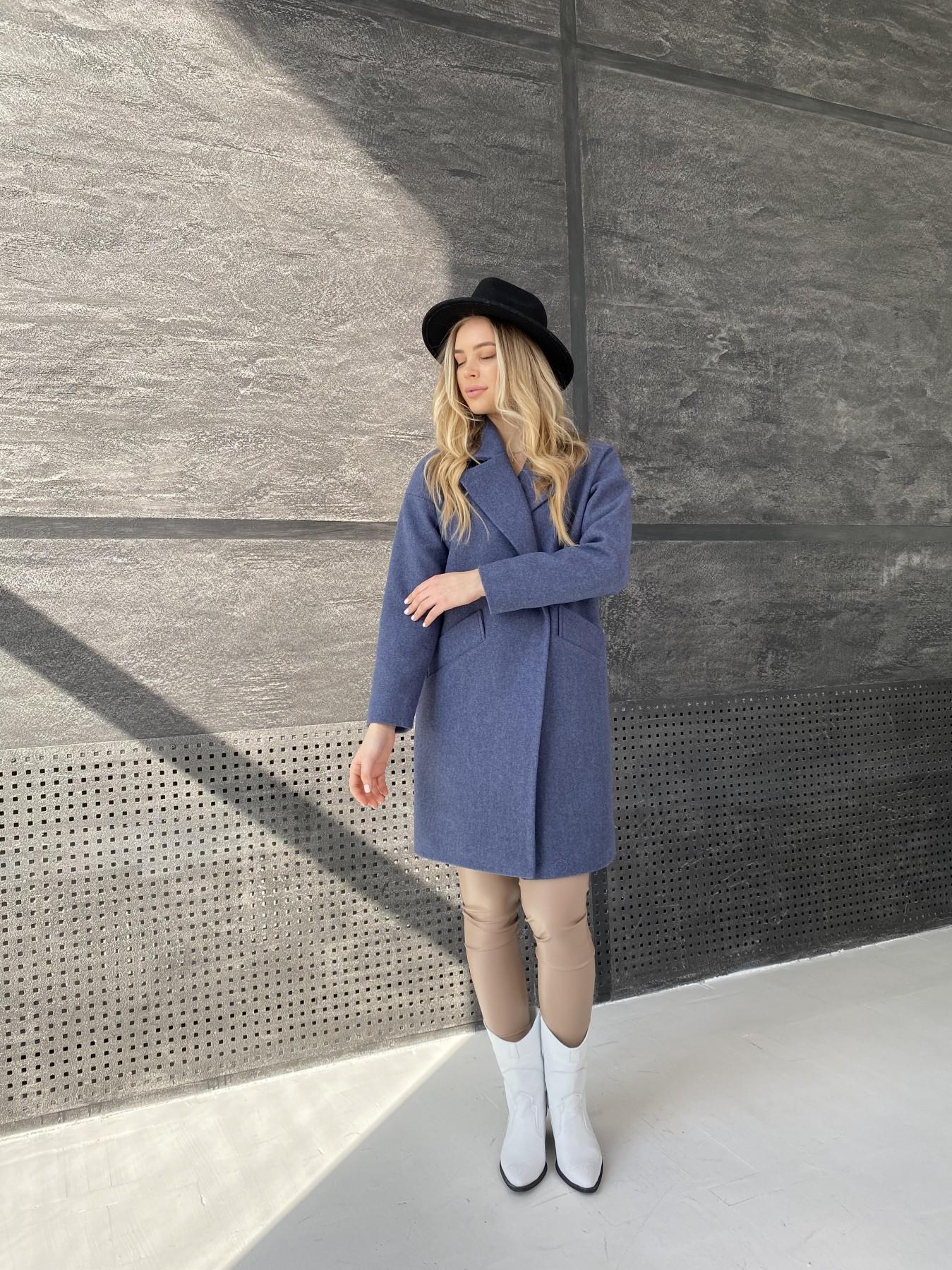 Сенсей пальто из кашемира меланж  10745 АРТ. 47228 Цвет: Джинс 57 - фото 3, интернет магазин tm-modus.ru