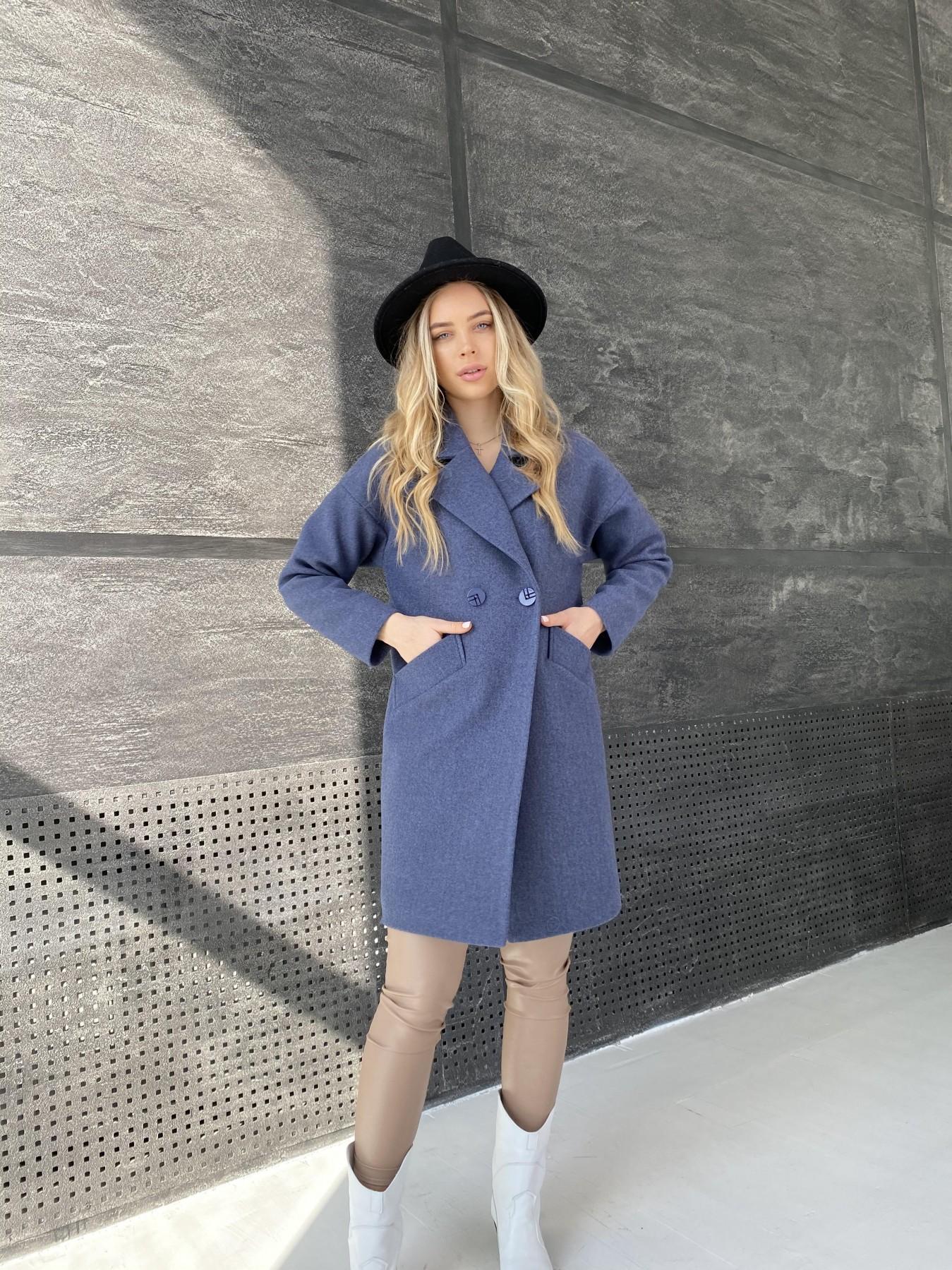 Сенсей пальто из кашемира меланж  10745 АРТ. 47228 Цвет: Джинс 57 - фото 4, интернет магазин tm-modus.ru
