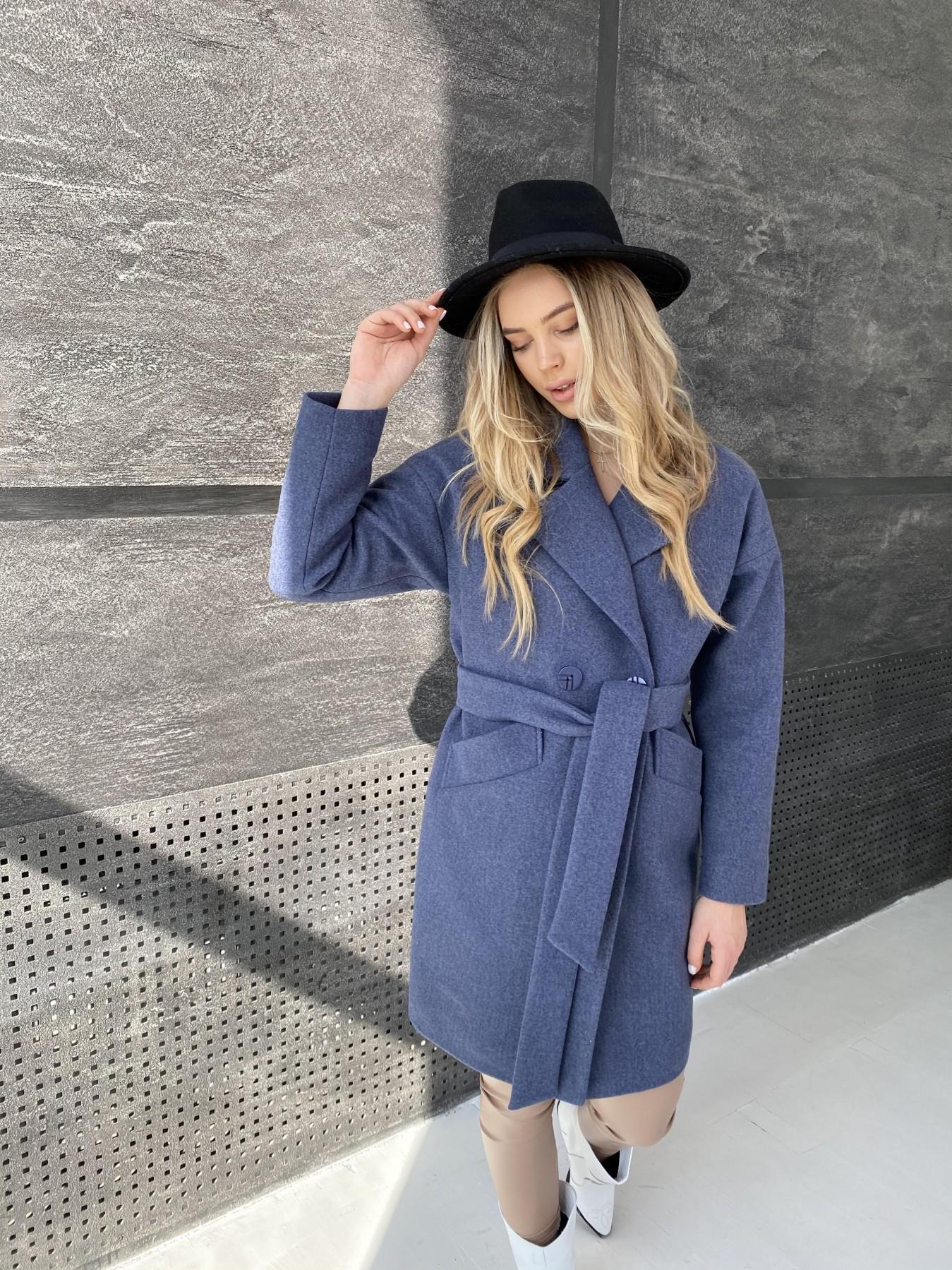 Сенсей пальто из кашемира меланж  10745 АРТ. 47228 Цвет: Джинс 57 - фото 5, интернет магазин tm-modus.ru