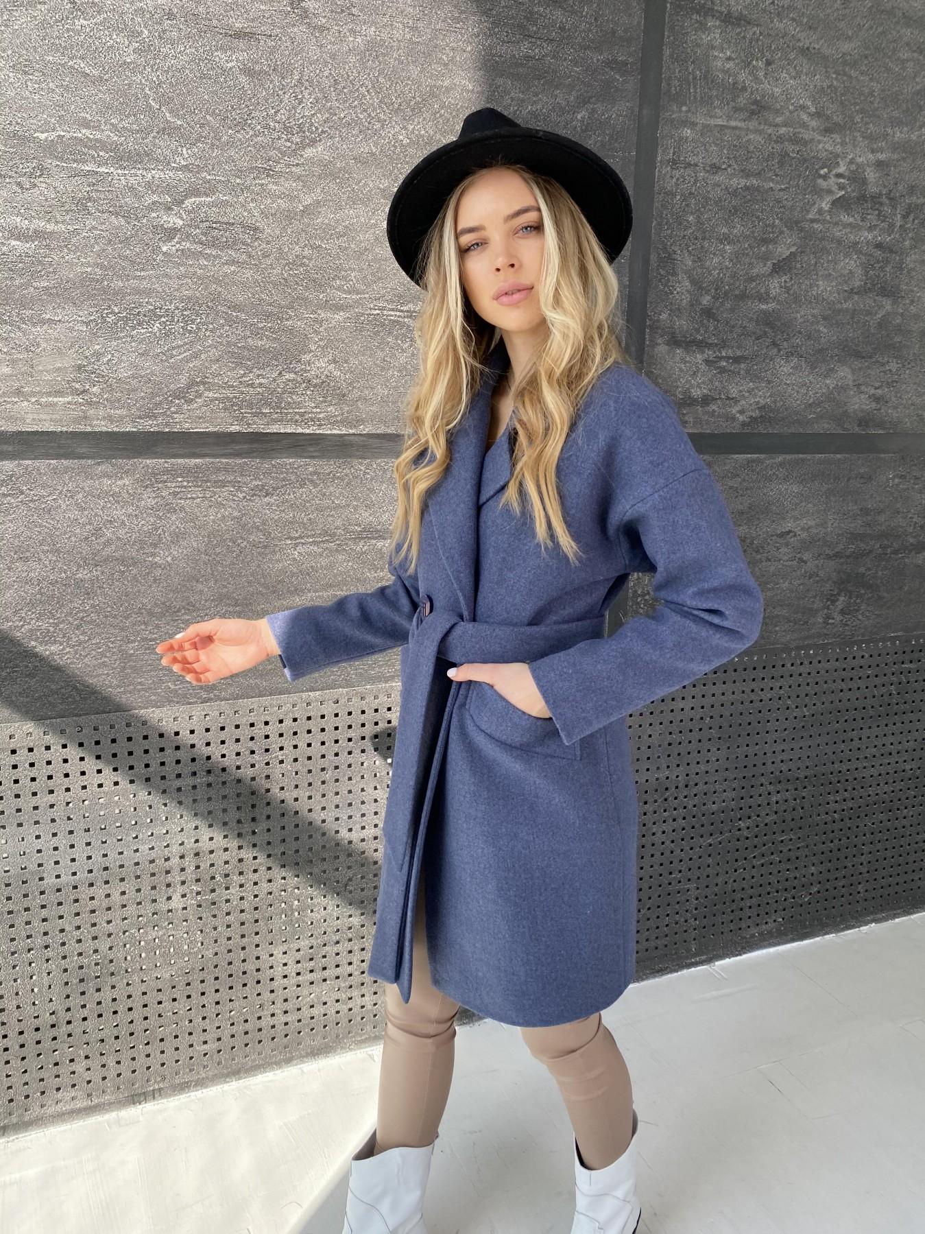Сенсей пальто из кашемира меланж  10745 АРТ. 47228 Цвет: Джинс 57 - фото 8, интернет магазин tm-modus.ru