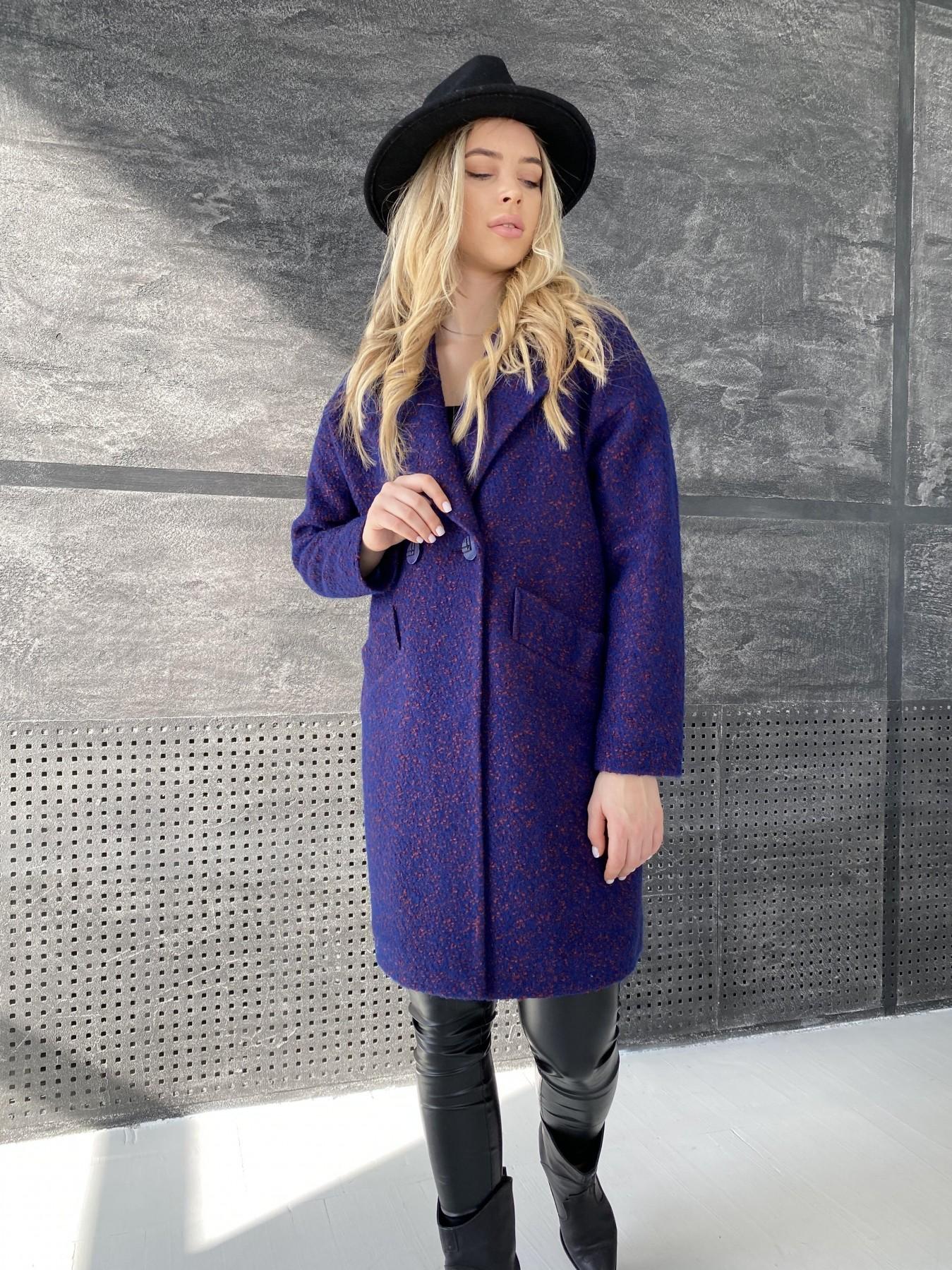 Сенсей пальто из шерсти букле 10780 АРТ. 47237 Цвет: Т.синий марсала 43 - фото 6, интернет магазин tm-modus.ru