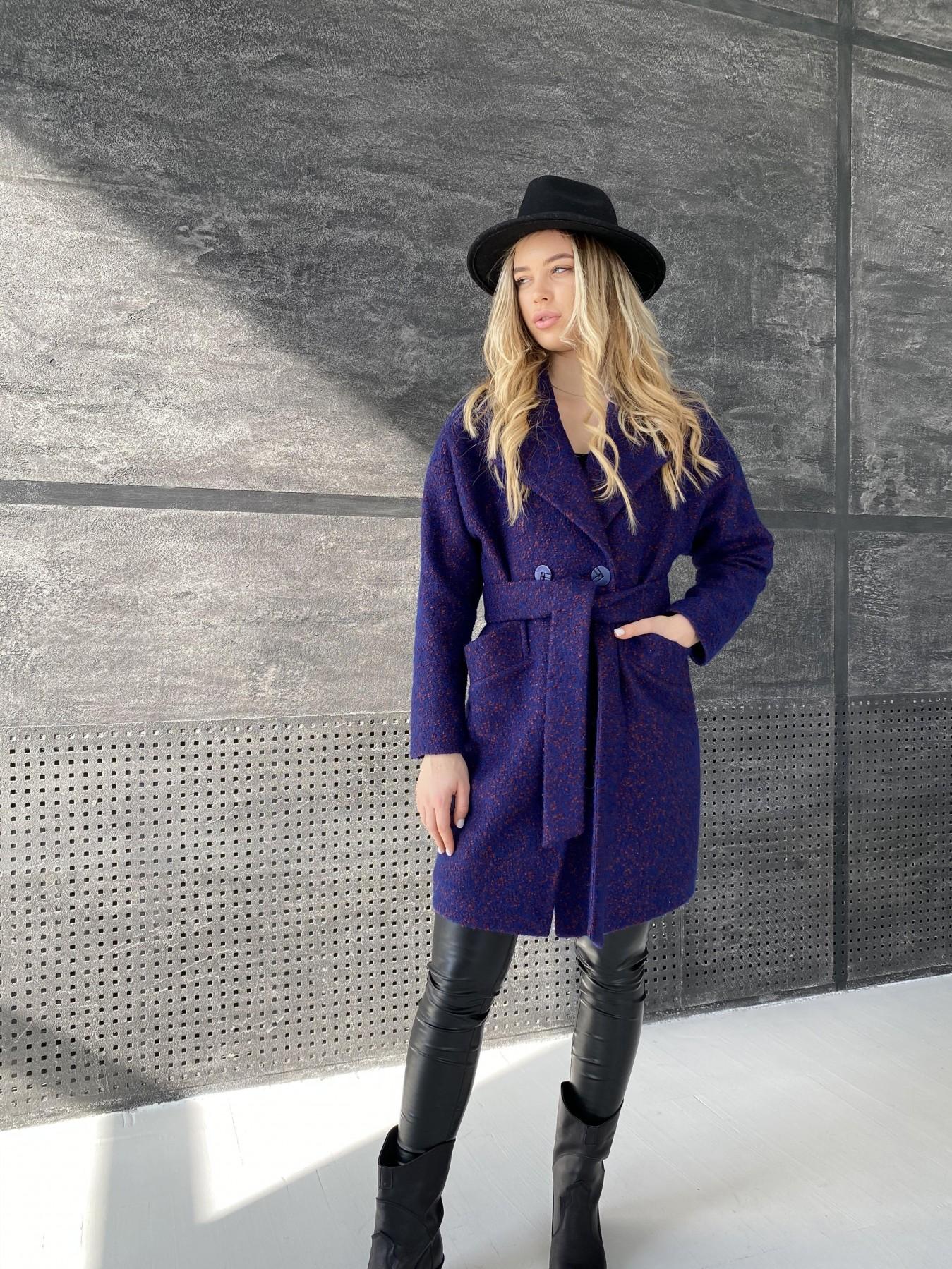 Сенсей пальто из шерсти букле 10780 АРТ. 47237 Цвет: Т.синий марсала 43 - фото 7, интернет магазин tm-modus.ru