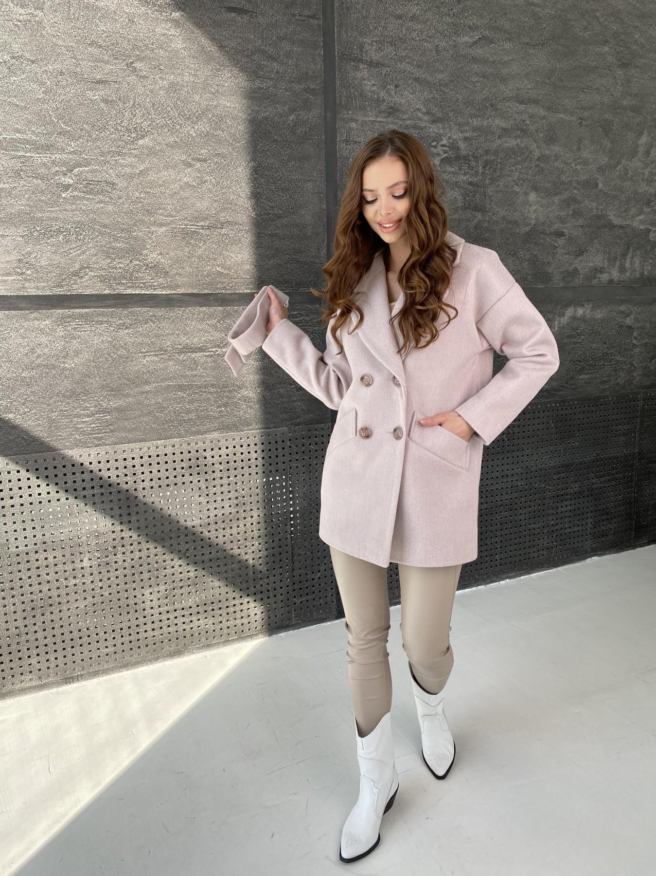 Бонд Флеш пальто из пальтовой ткани 10768 АРТ. 47195 Цвет: Пудра - фото 2, интернет магазин tm-modus.ru