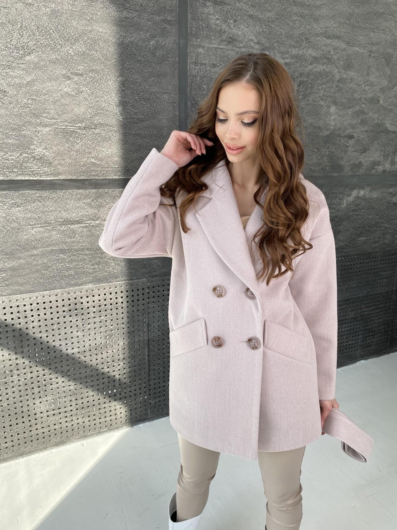 Бонд Флеш пальто из пальтовой ткани 10768 АРТ. 47195 Цвет: Пудра - фото 3, интернет магазин tm-modus.ru