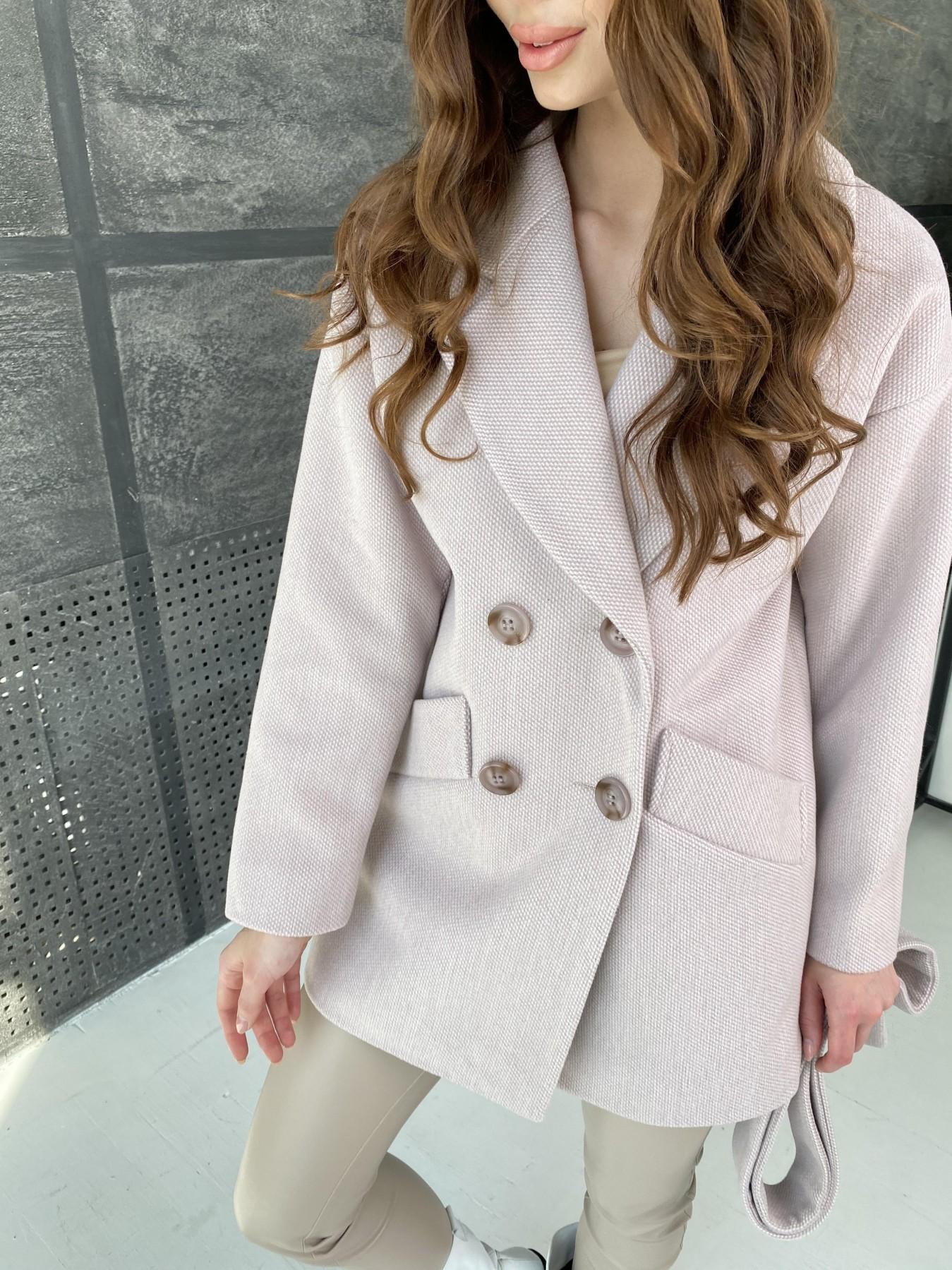 Бонд Флеш пальто из пальтовой ткани 10768 АРТ. 47195 Цвет: Пудра - фото 4, интернет магазин tm-modus.ru
