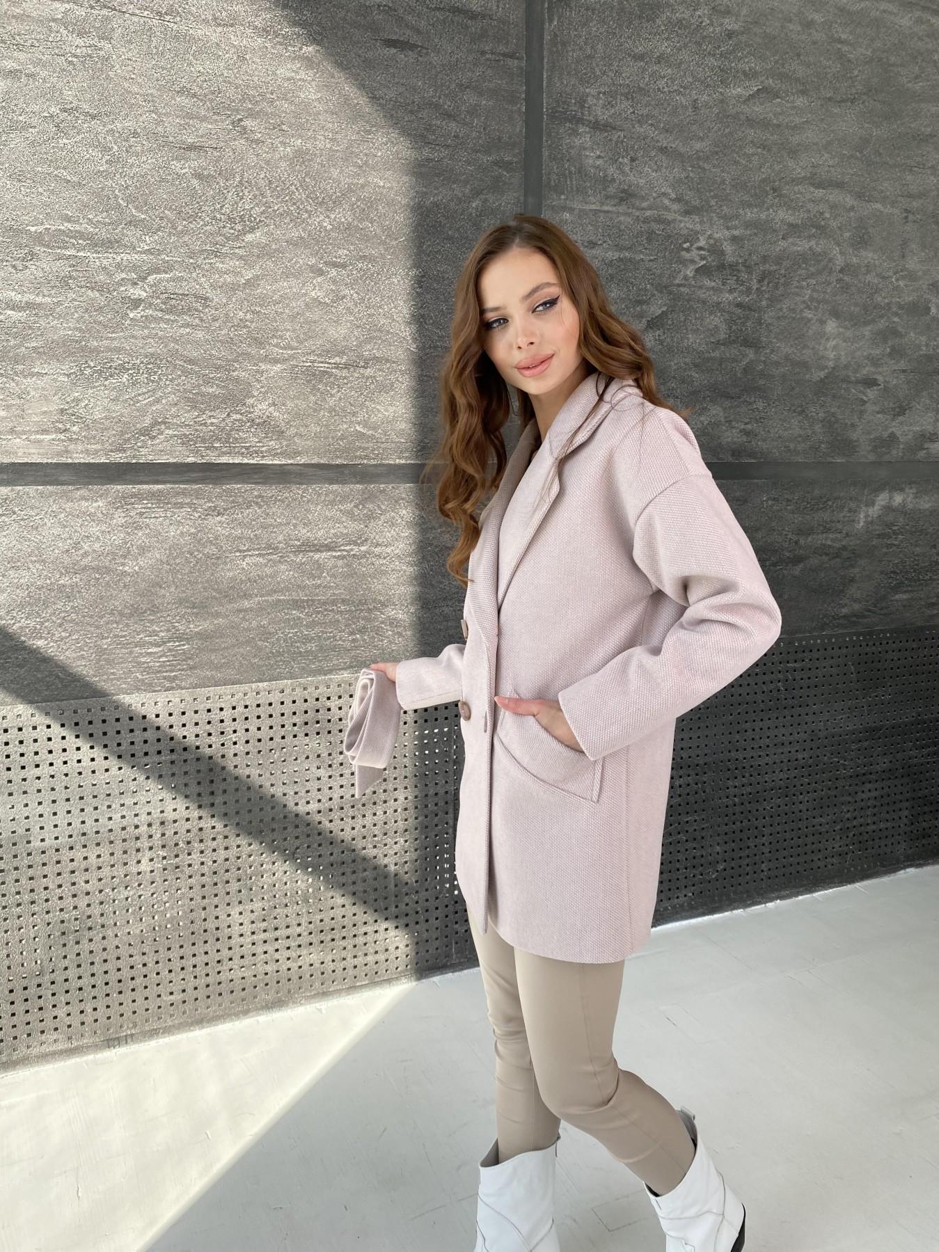 Бонд Флеш пальто из пальтовой ткани 10768 АРТ. 47195 Цвет: Пудра - фото 5, интернет магазин tm-modus.ru
