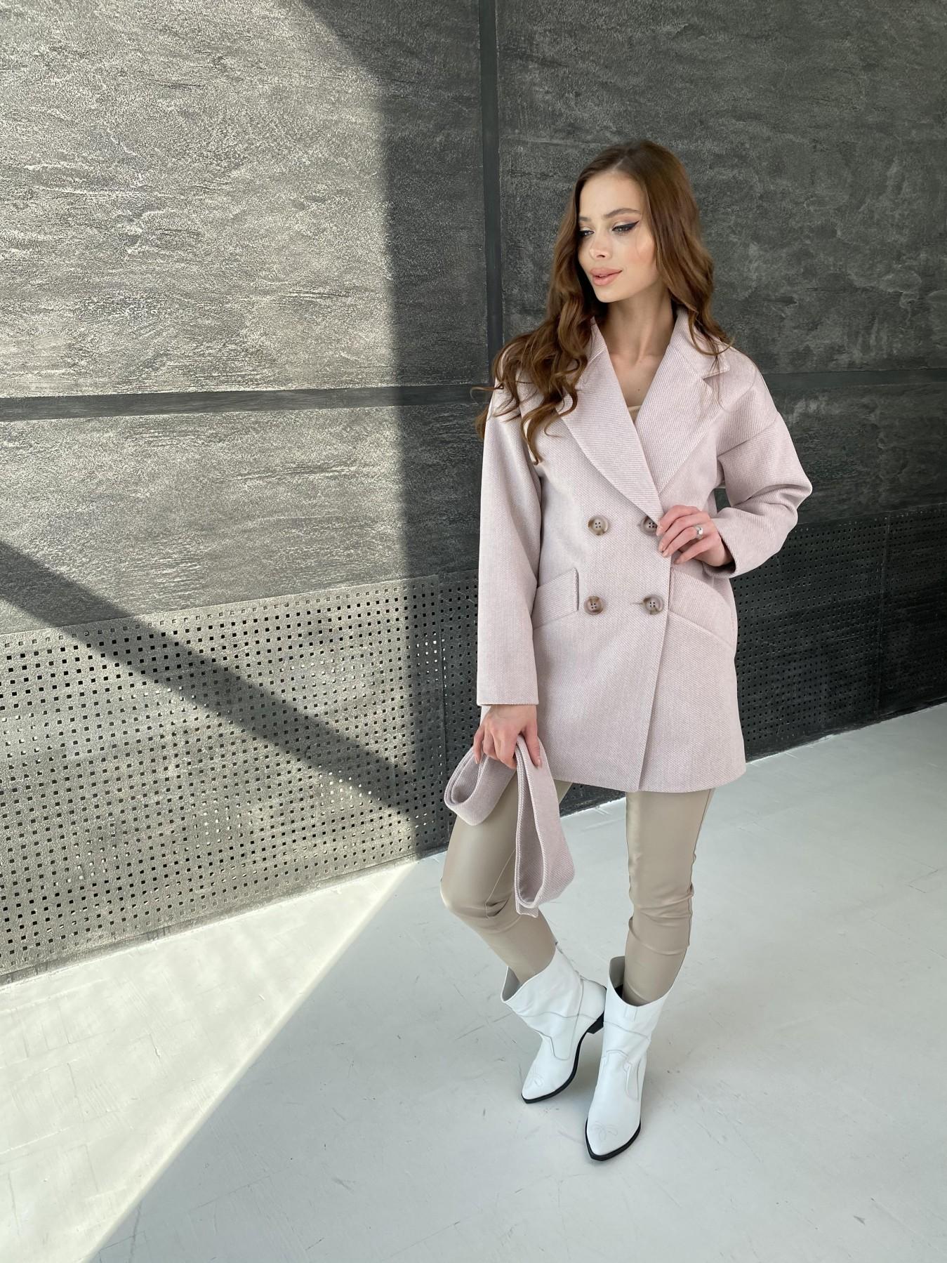 Бонд Флеш пальто из пальтовой ткани 10768 АРТ. 47195 Цвет: Пудра - фото 6, интернет магазин tm-modus.ru