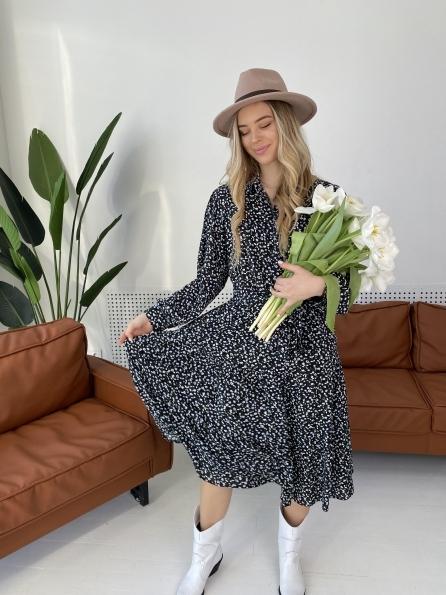 Купить Лилия штапель принт платье 10879 оптом и в розницу