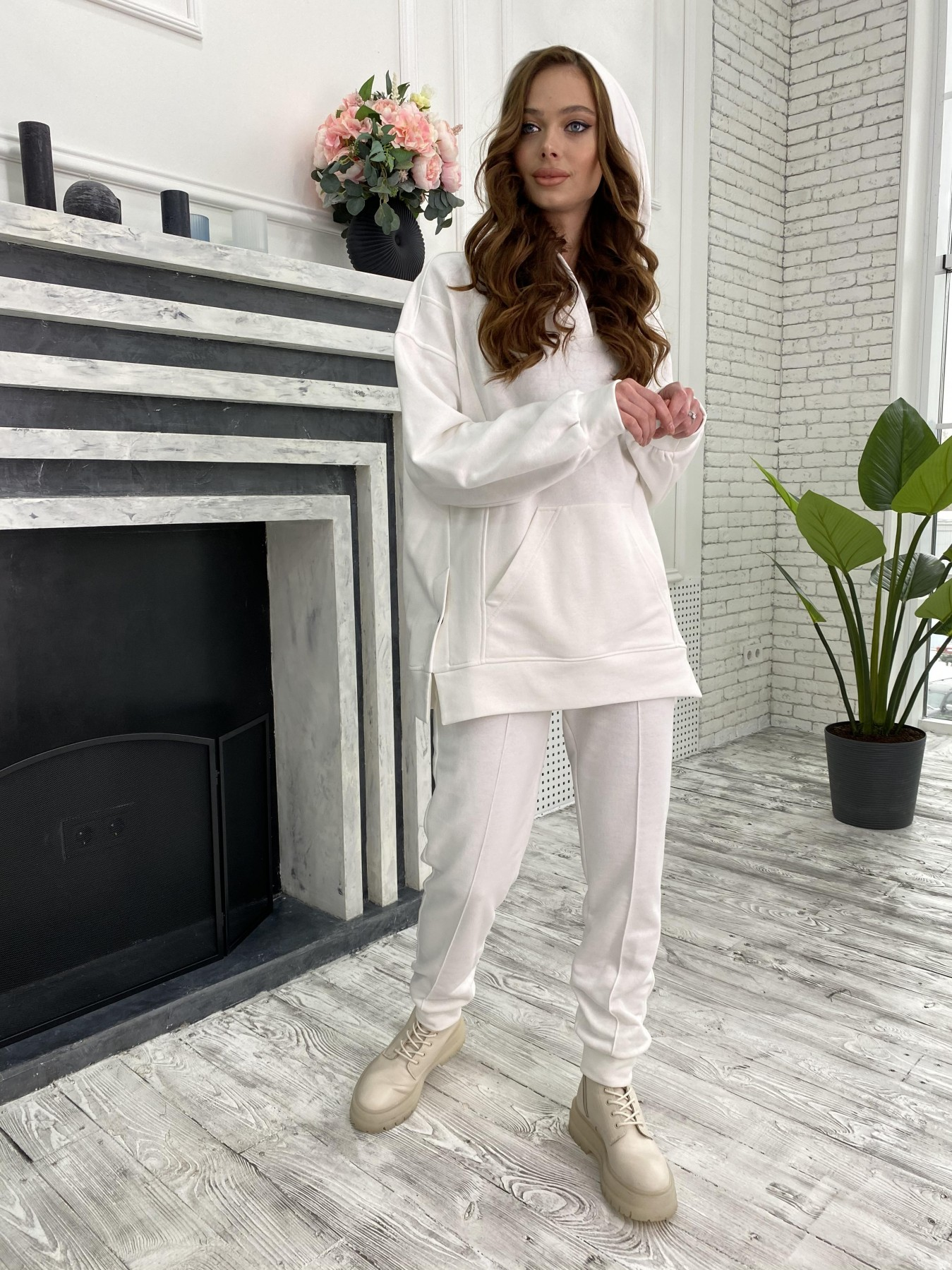 Лайф костюм  из 3х нитки 10782 АРТ. 47254 Цвет: Молоко - фото 3, интернет магазин tm-modus.ru
