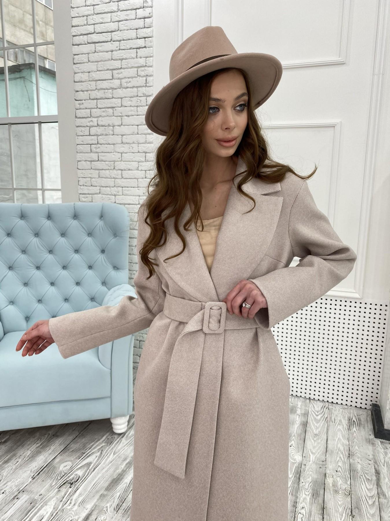 Севен диагональ пальто 10660 АРТ. 47061 Цвет: Бежевый - фото 2, интернет магазин tm-modus.ru
