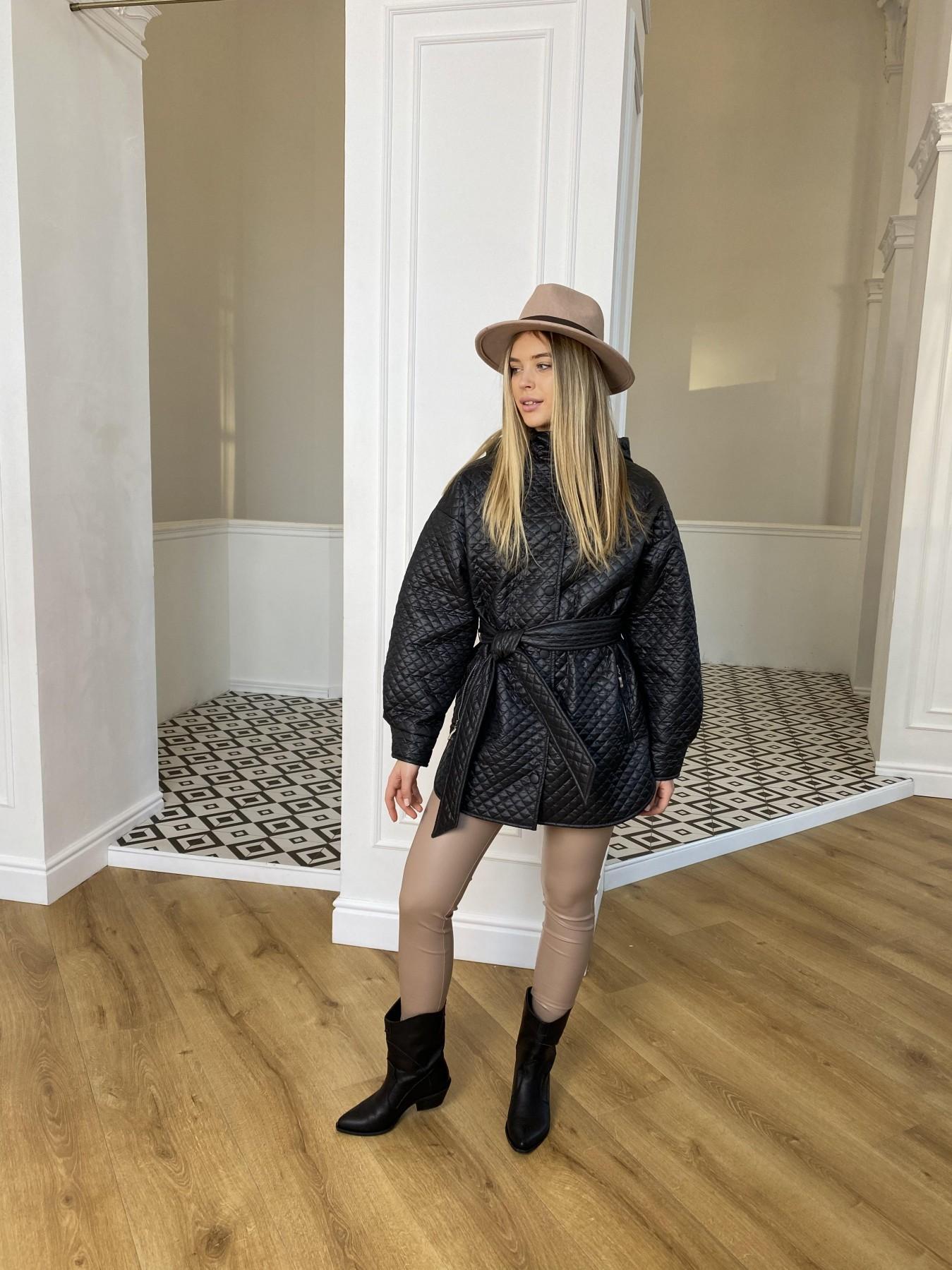 Пазл стеганая куртка из плащевой ткани  10933 АРТ. 47413 Цвет: Черный - фото 5, интернет магазин tm-modus.ru