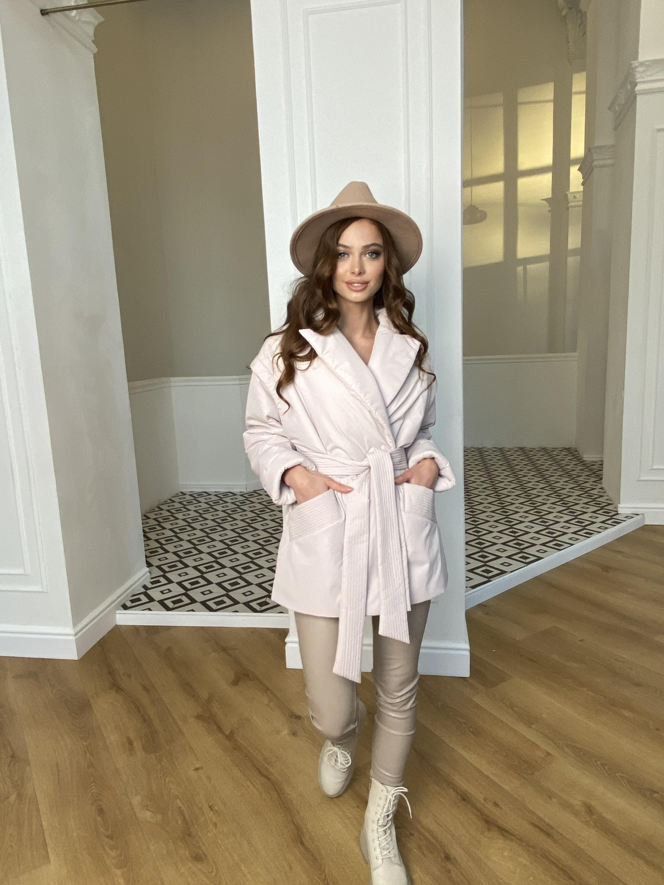 Форбс плащевка Ammy куртка 10817 АРТ. 47298 Цвет: Молоко - фото 1, интернет магазин tm-modus.ru