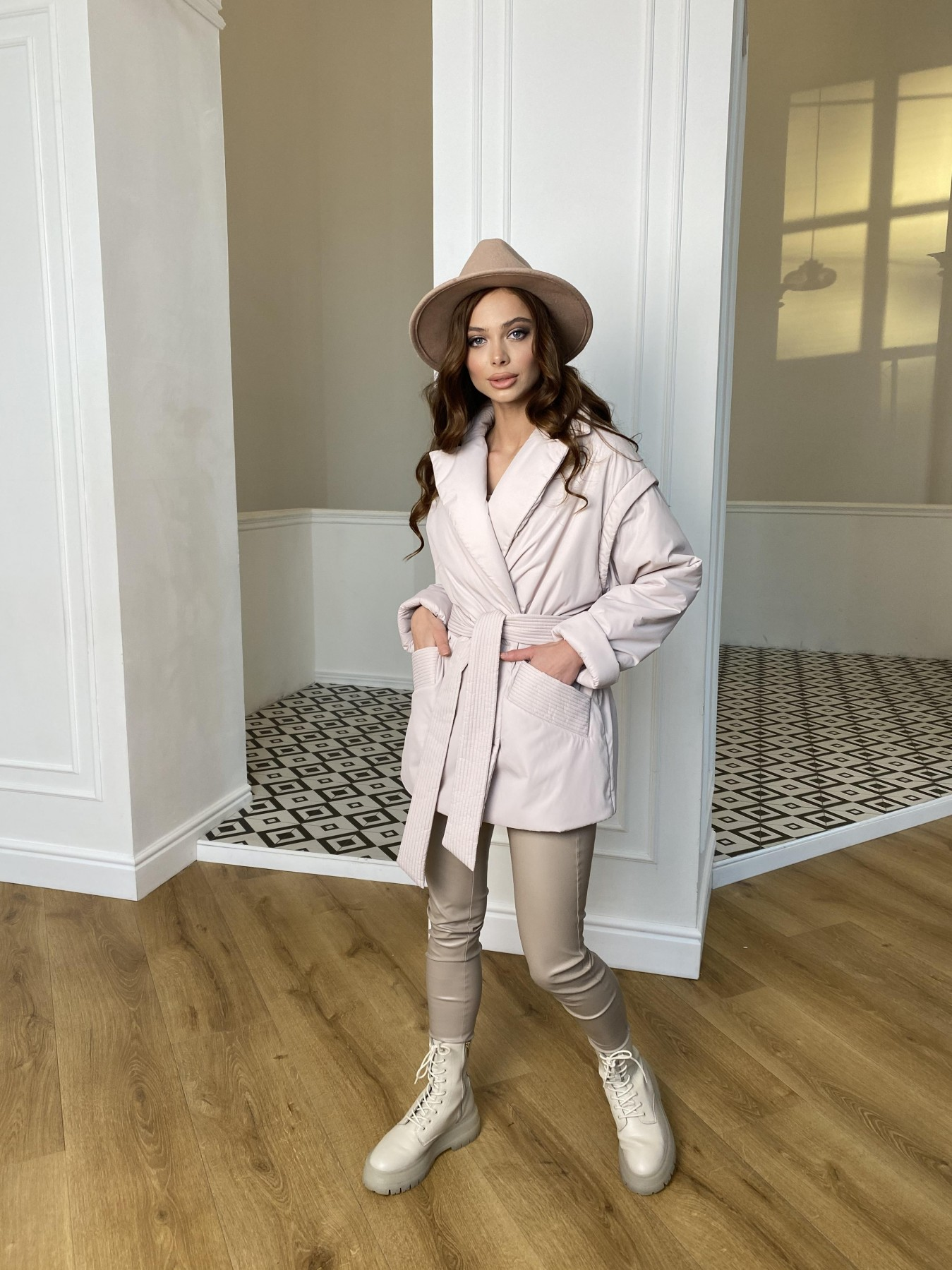 Форбс плащевка Ammy куртка 10817 АРТ. 47298 Цвет: Молоко - фото 2, интернет магазин tm-modus.ru