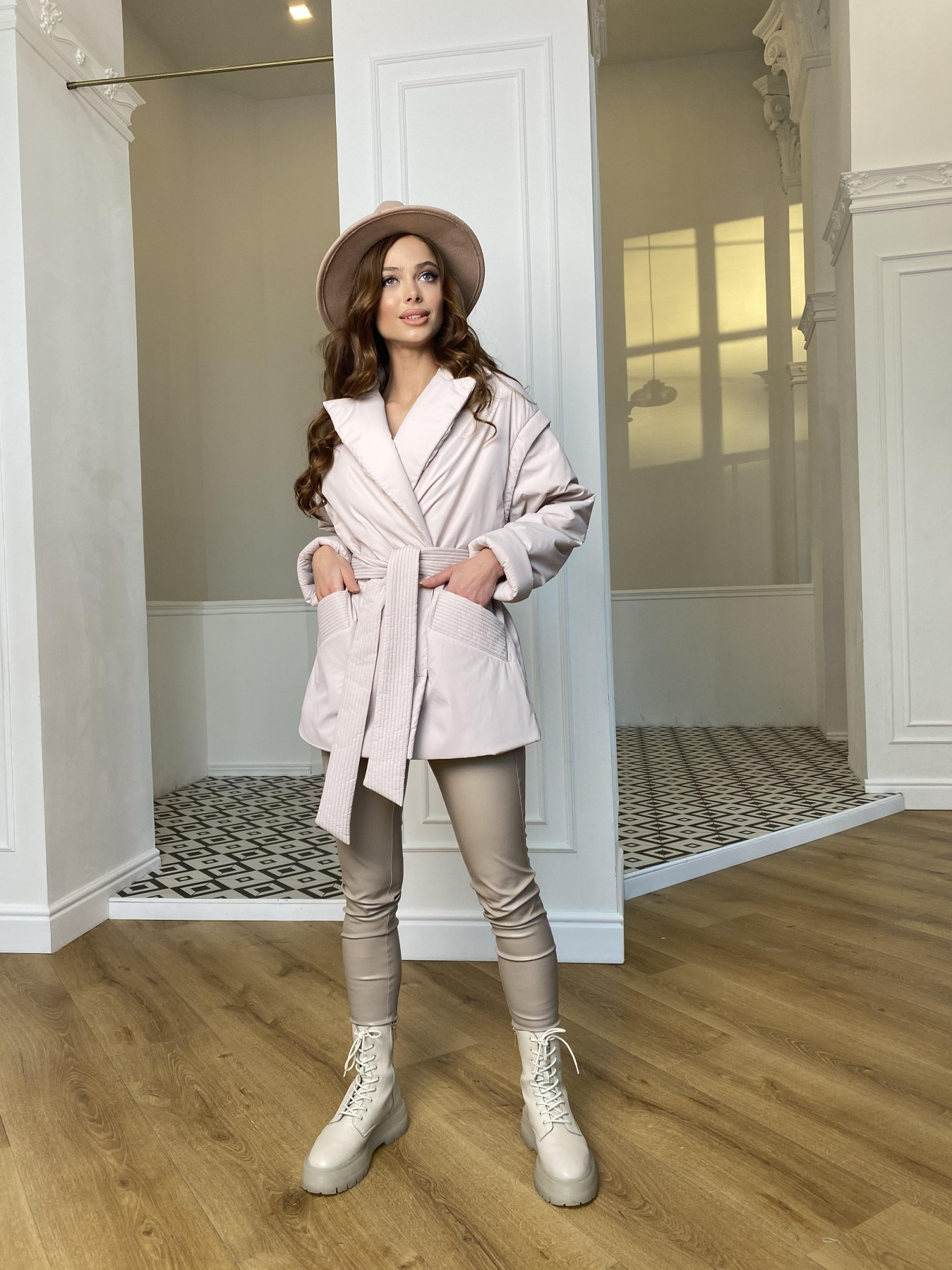 Форбс плащевка Ammy куртка 10817 АРТ. 47298 Цвет: Молоко - фото 6, интернет магазин tm-modus.ru