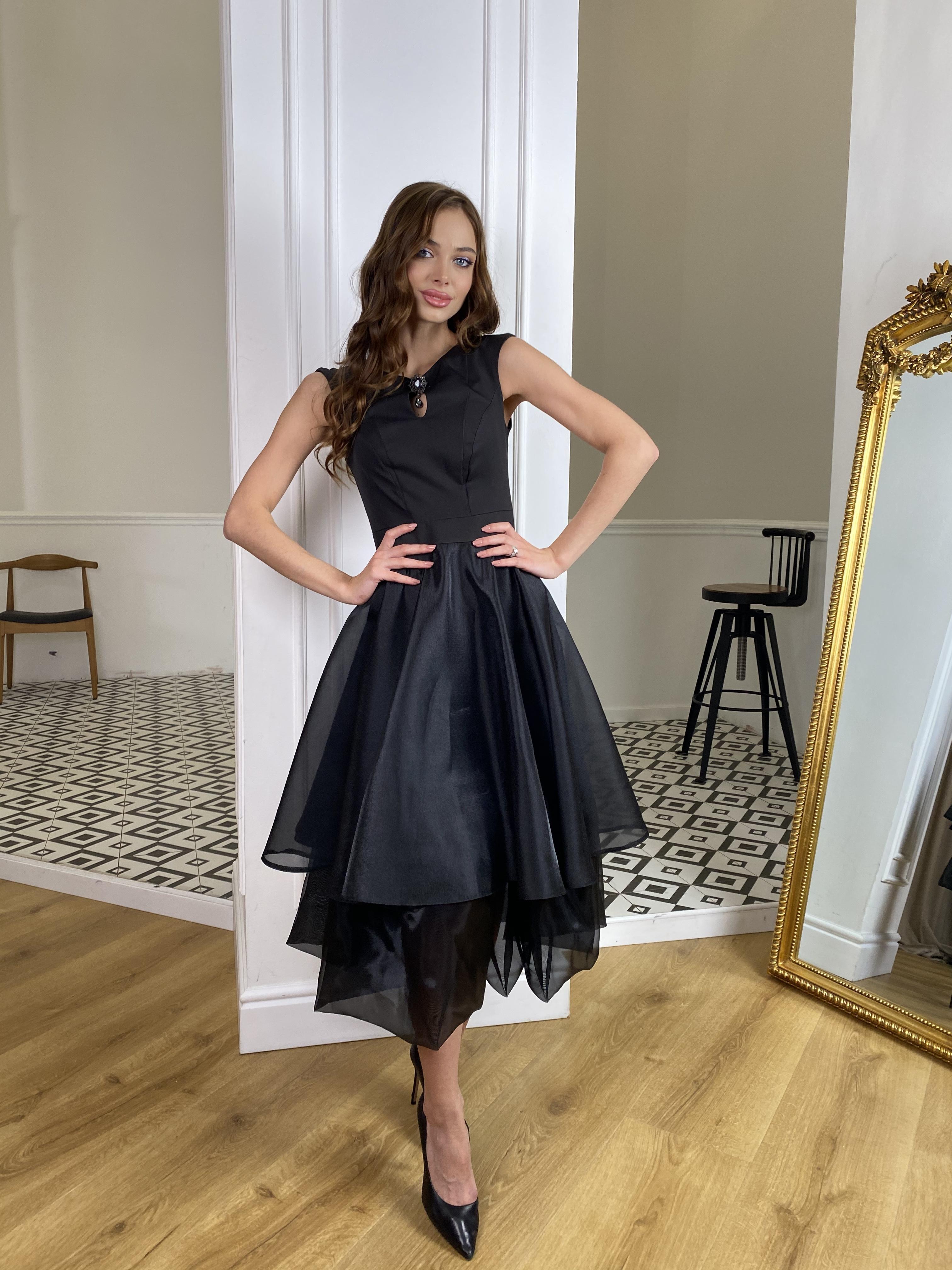 Вечернее Платье Лилу 7135 АРТ. 42766 Цвет: Черный - фото 2, интернет магазин tm-modus.ru