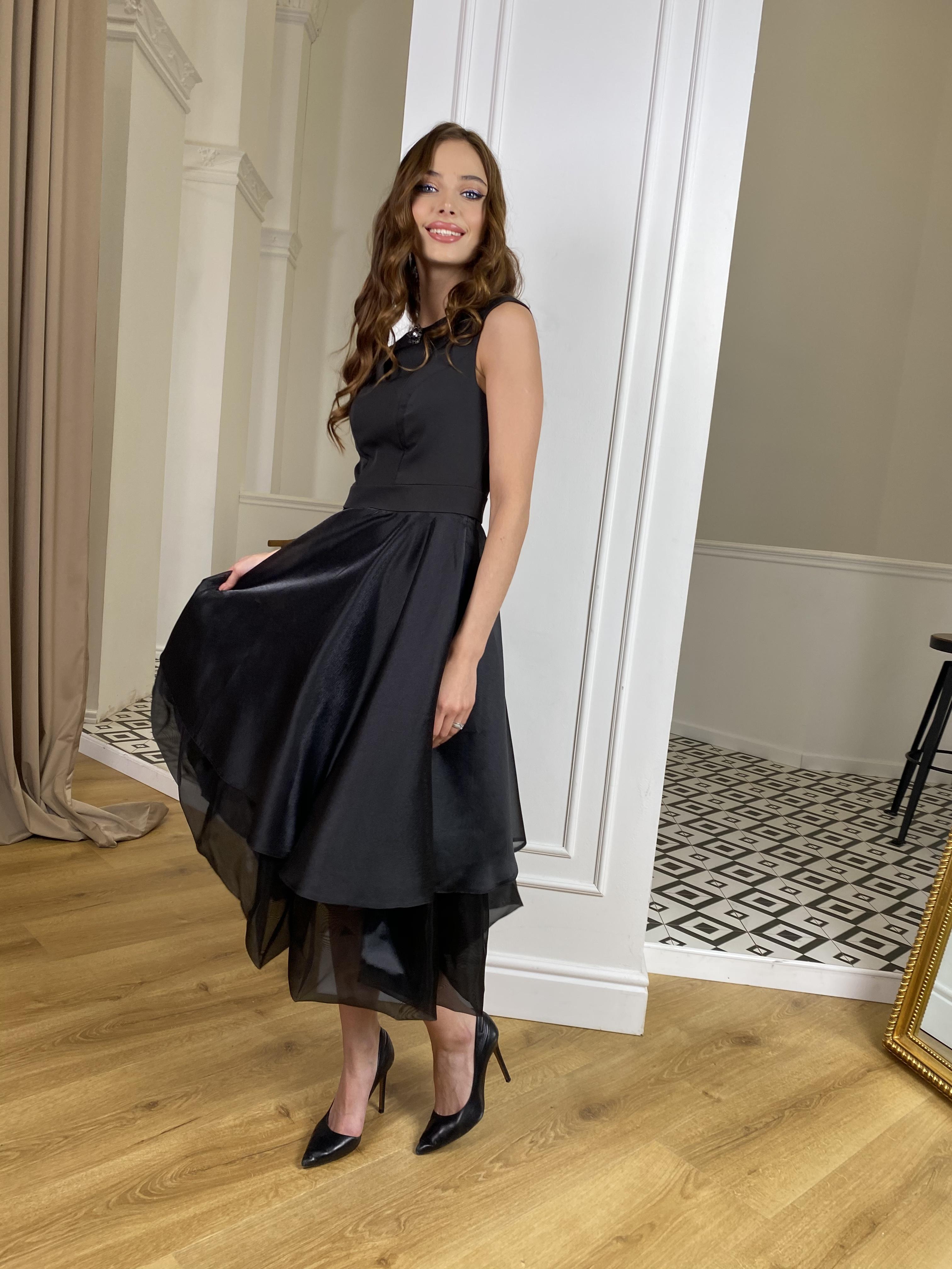 Вечернее Платье Лилу 7135 АРТ. 42766 Цвет: Черный - фото 4, интернет магазин tm-modus.ru