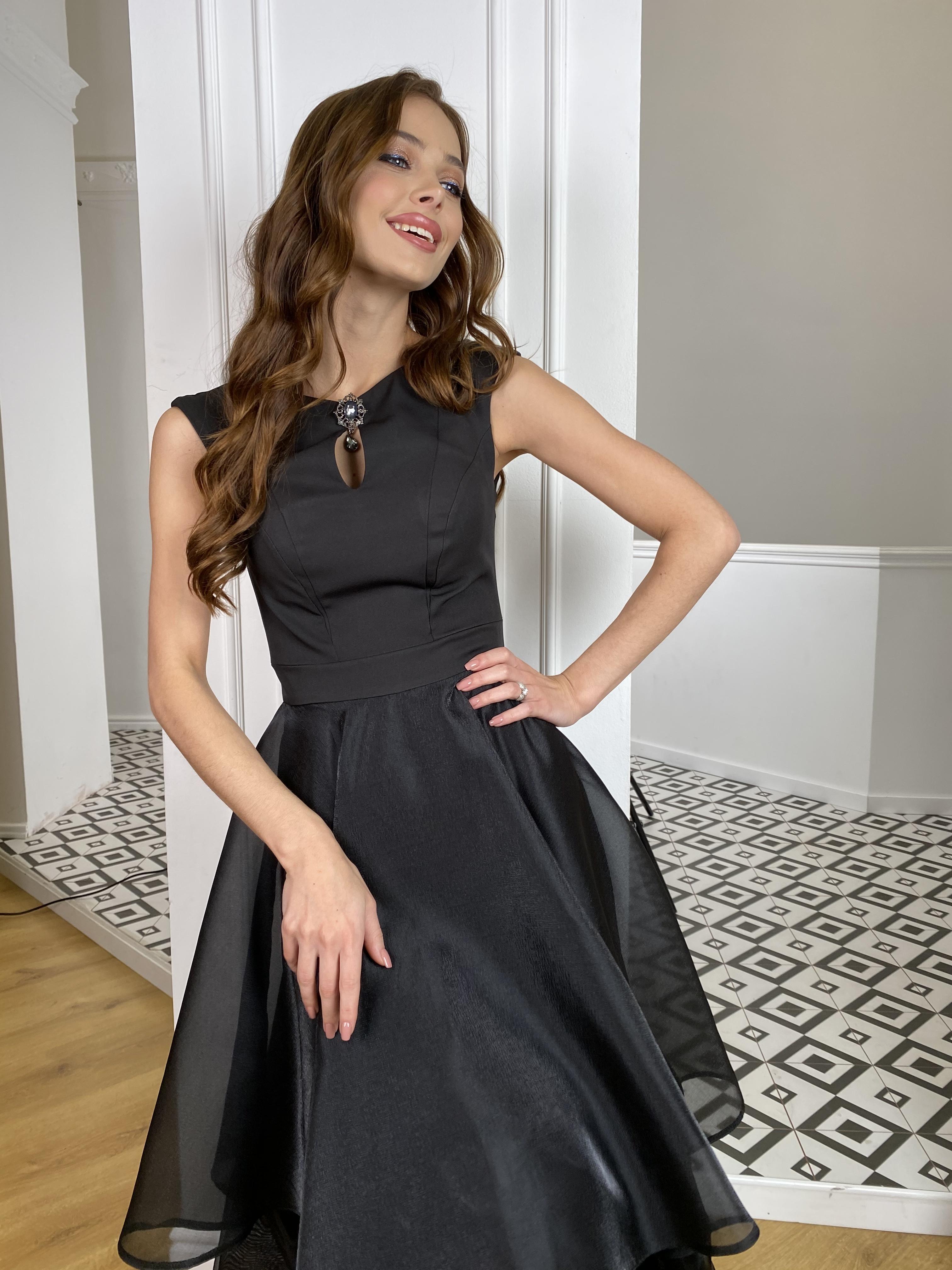 Вечернее Платье Лилу 7135 АРТ. 42766 Цвет: Черный - фото 5, интернет магазин tm-modus.ru