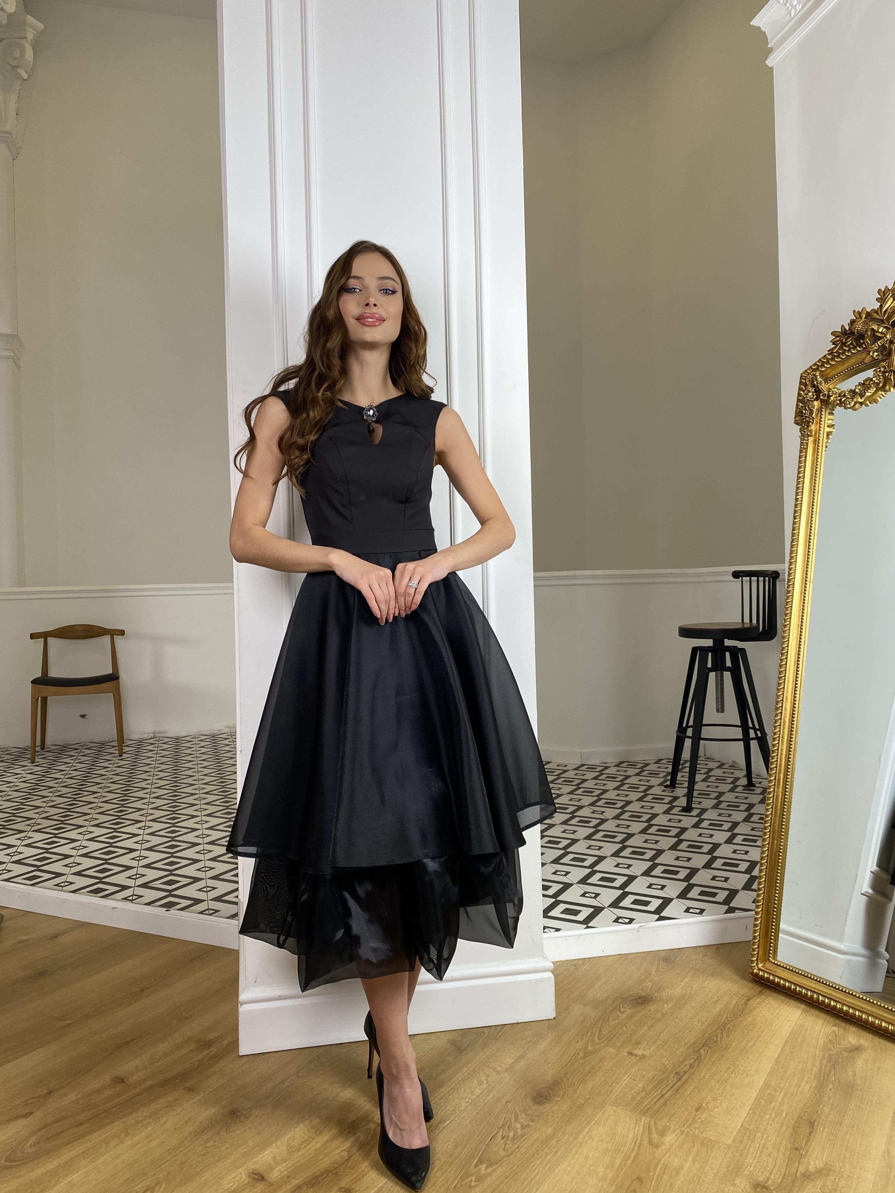 Вечернее Платье Лилу 7135 АРТ. 42766 Цвет: Черный - фото 6, интернет магазин tm-modus.ru