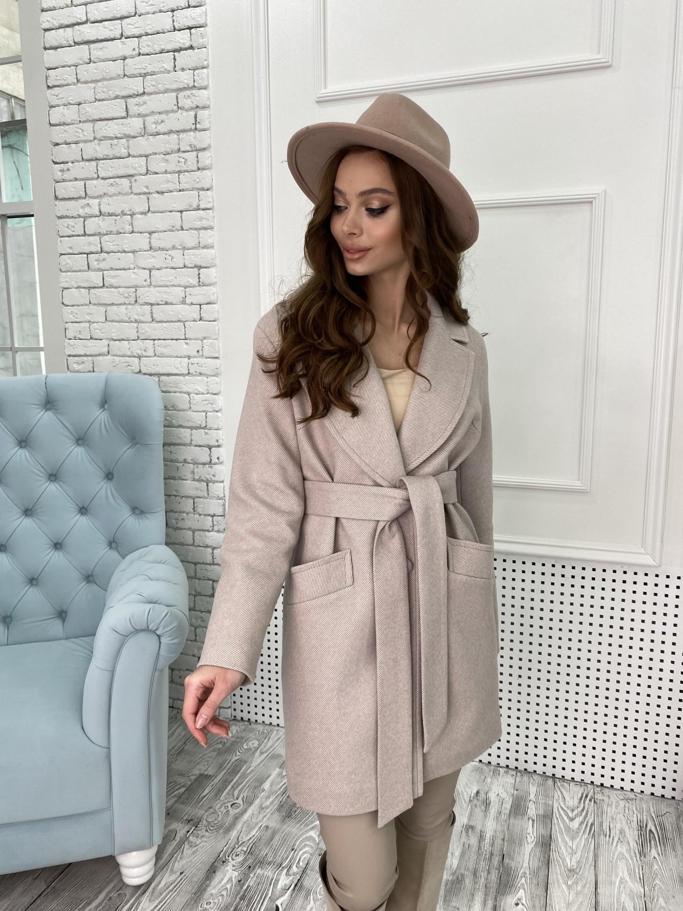 Пальто женское демисезонное купить в интернете Вейсона Диагональ пальтовая ткань пальто 10753