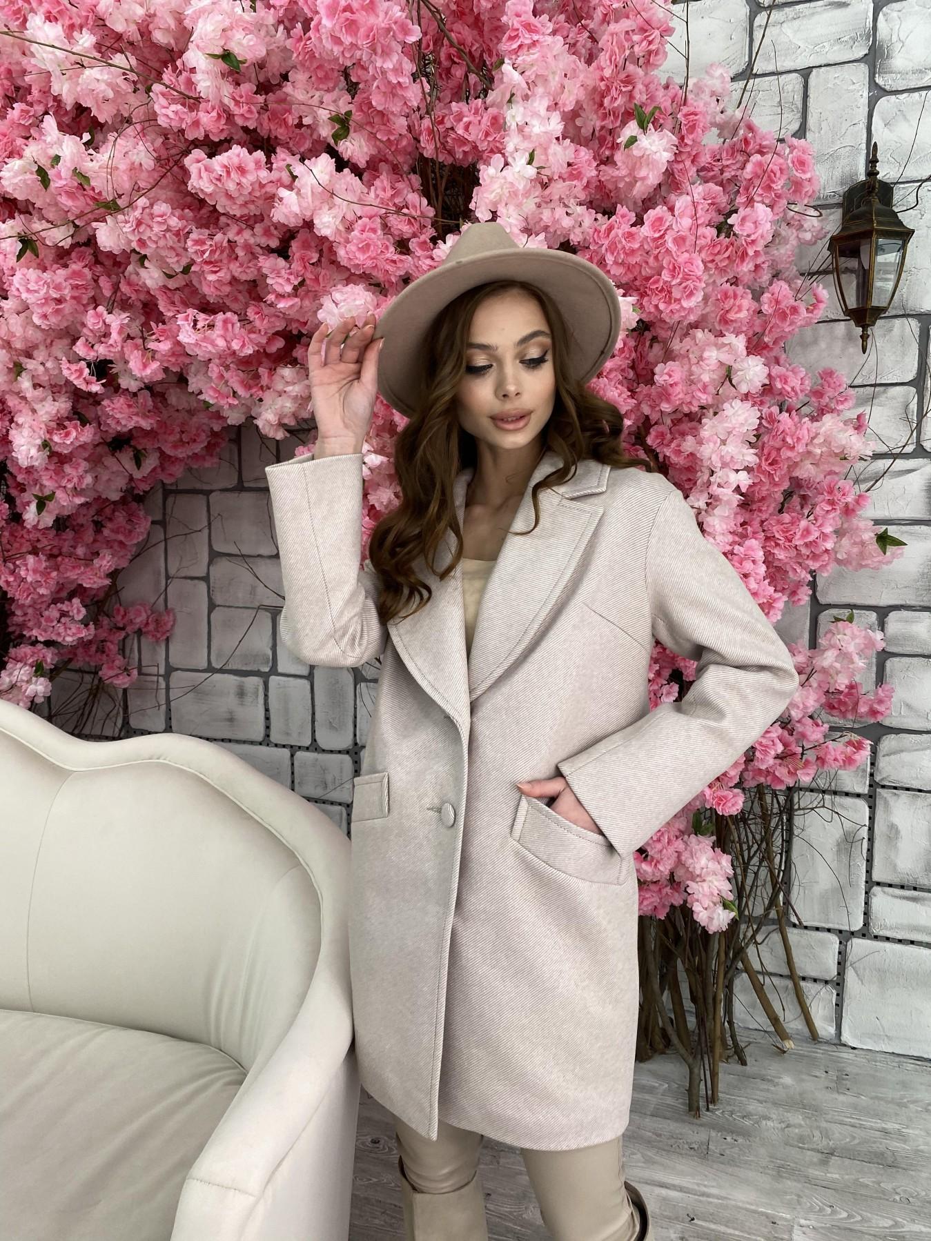 Вейсона Диагональ пальтовая ткань пальто 10753 АРТ. 47167 Цвет: Бежевый - фото 6, интернет магазин tm-modus.ru