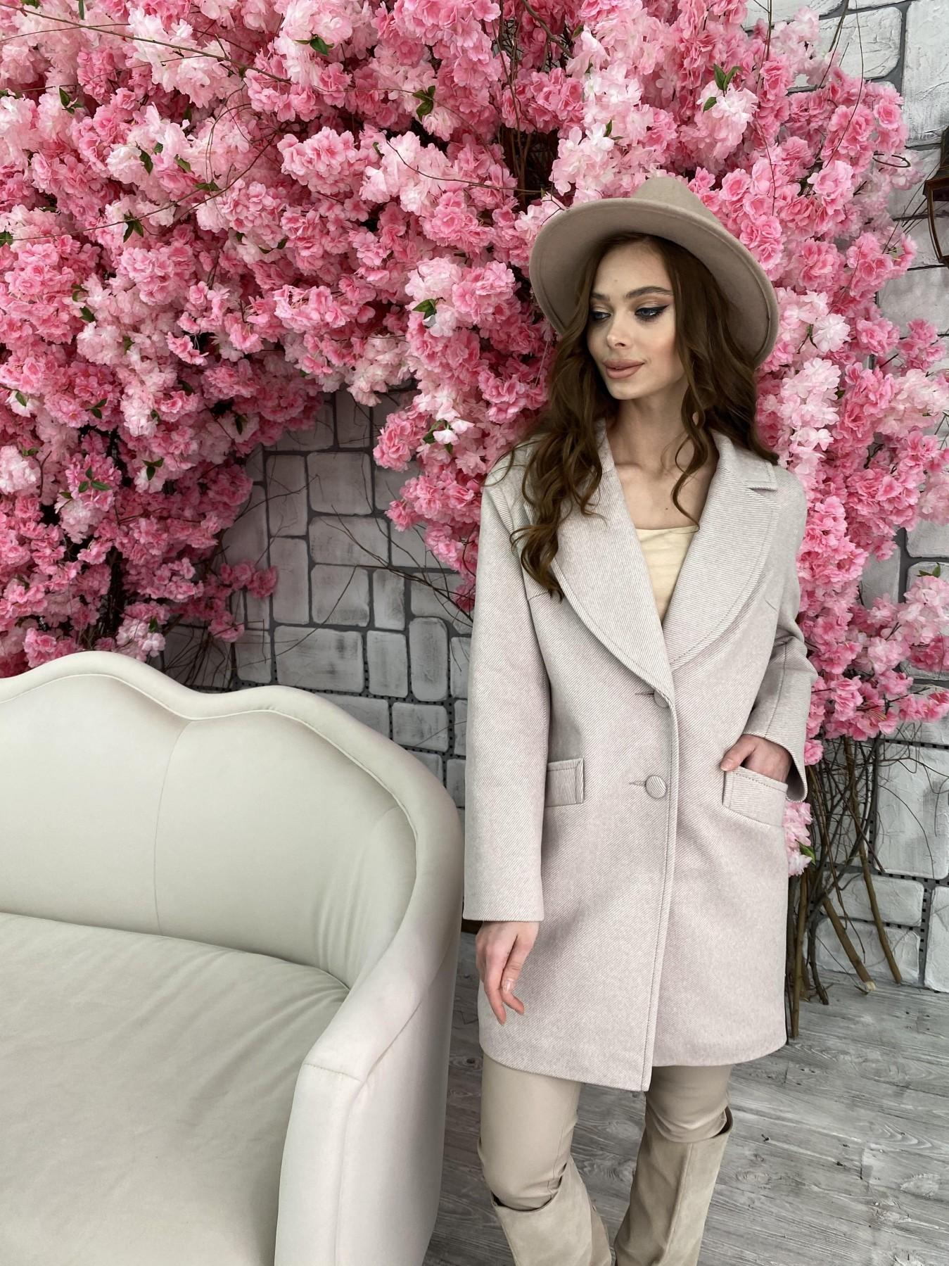 Вейсона Диагональ пальтовая ткань пальто 10753 АРТ. 47167 Цвет: Бежевый - фото 7, интернет магазин tm-modus.ru