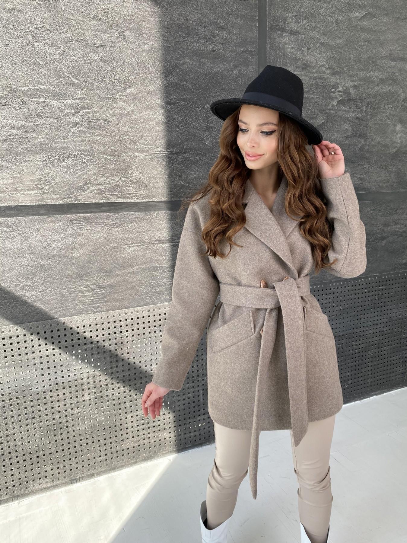 Бонд пальто  кашемировое меланж на трикотаже  10644 АРТ. 47178 Цвет: Бежевый 28 - фото 2, интернет магазин tm-modus.ru