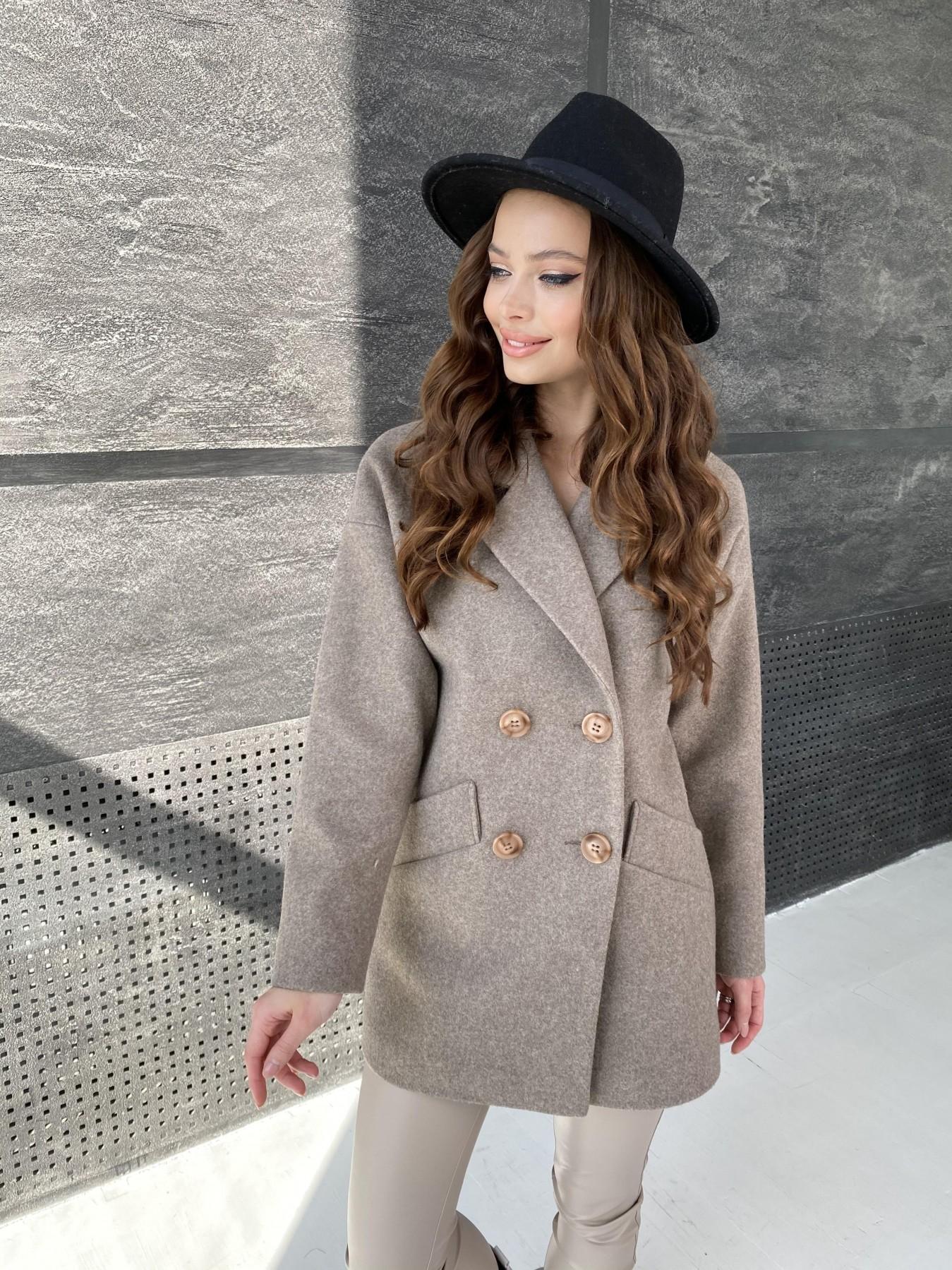 Бонд пальто  кашемировое меланж на трикотаже  10644 АРТ. 47178 Цвет: Бежевый 28 - фото 3, интернет магазин tm-modus.ru